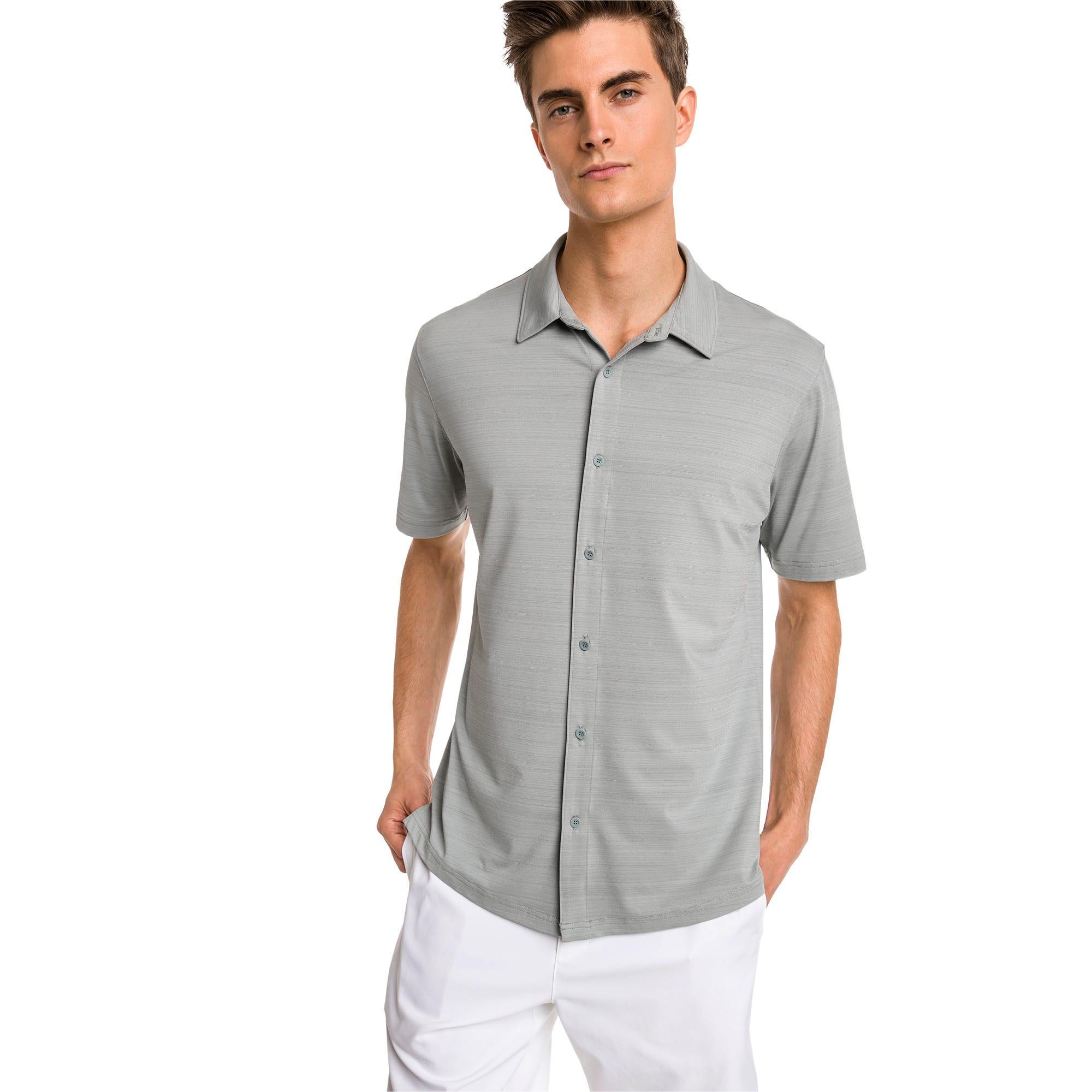 PUMA Chemise de golf à manches courtes Breezer pour Homme, Gris, Taille S