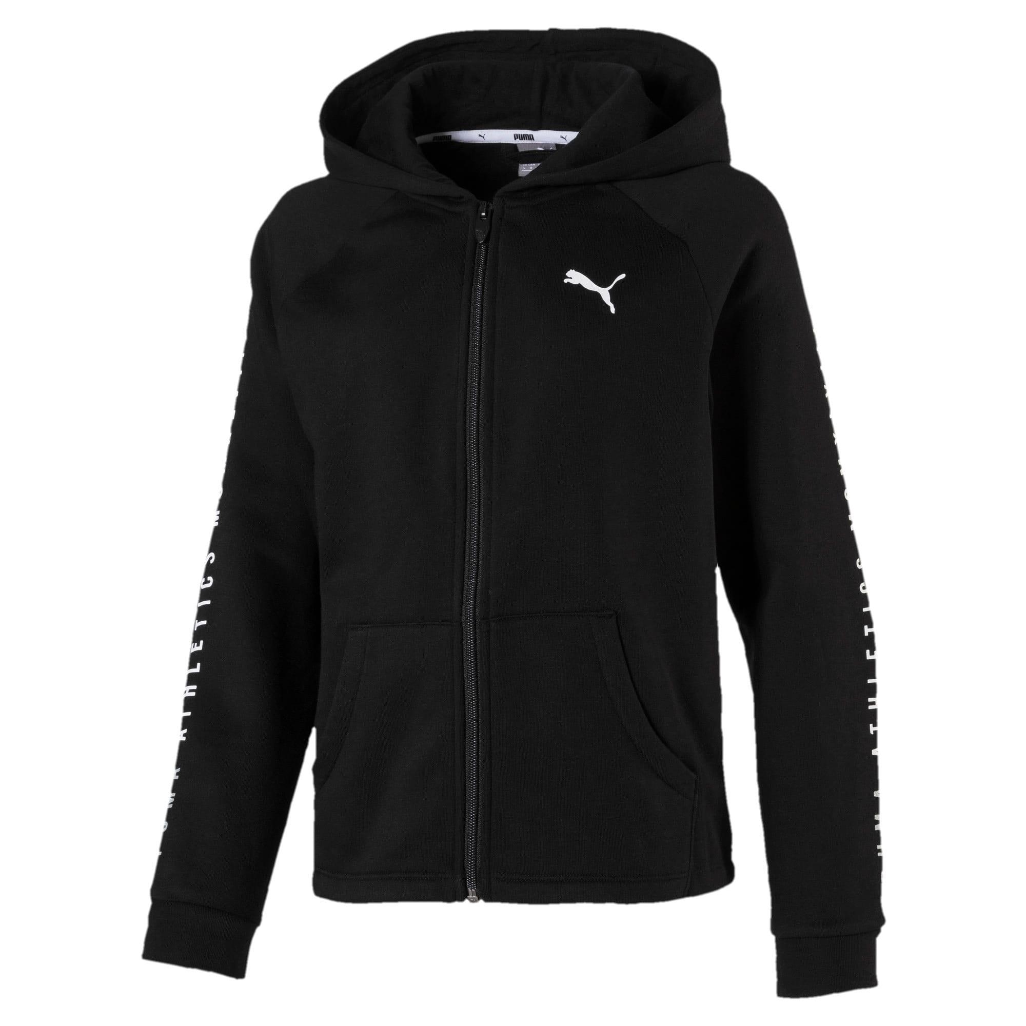 Girls' Alpha Training Jacket, Zwart, Maat 116   PUMA
