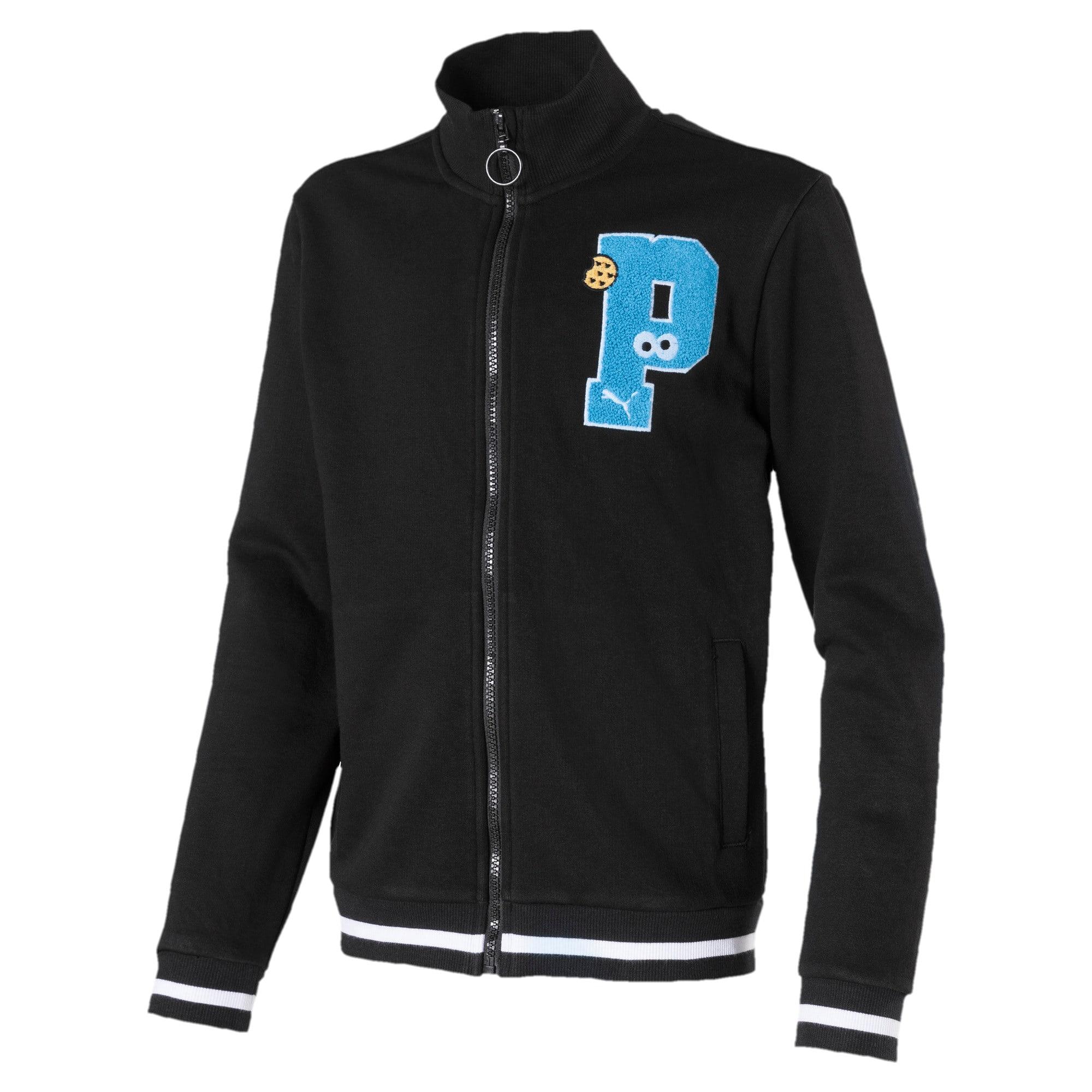 Sesame Street Boys' Sweat Jacket, Zwart, Maat 152   PUMA