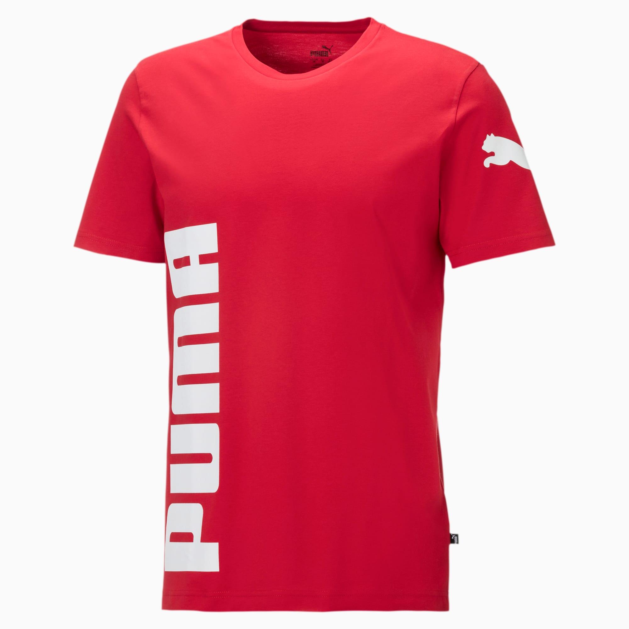 Image of PUMA Big Logo Graphic T-Shirt   Mit Aucun   Rot   Größe: M