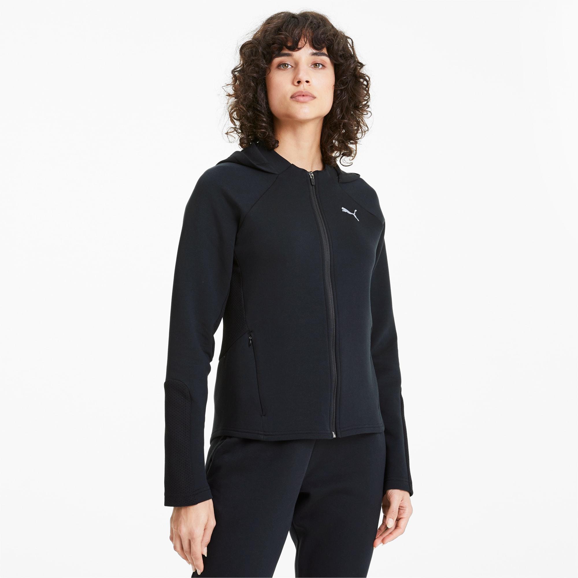puma Evostripe hoodie met rits voor Dames, ZwartM