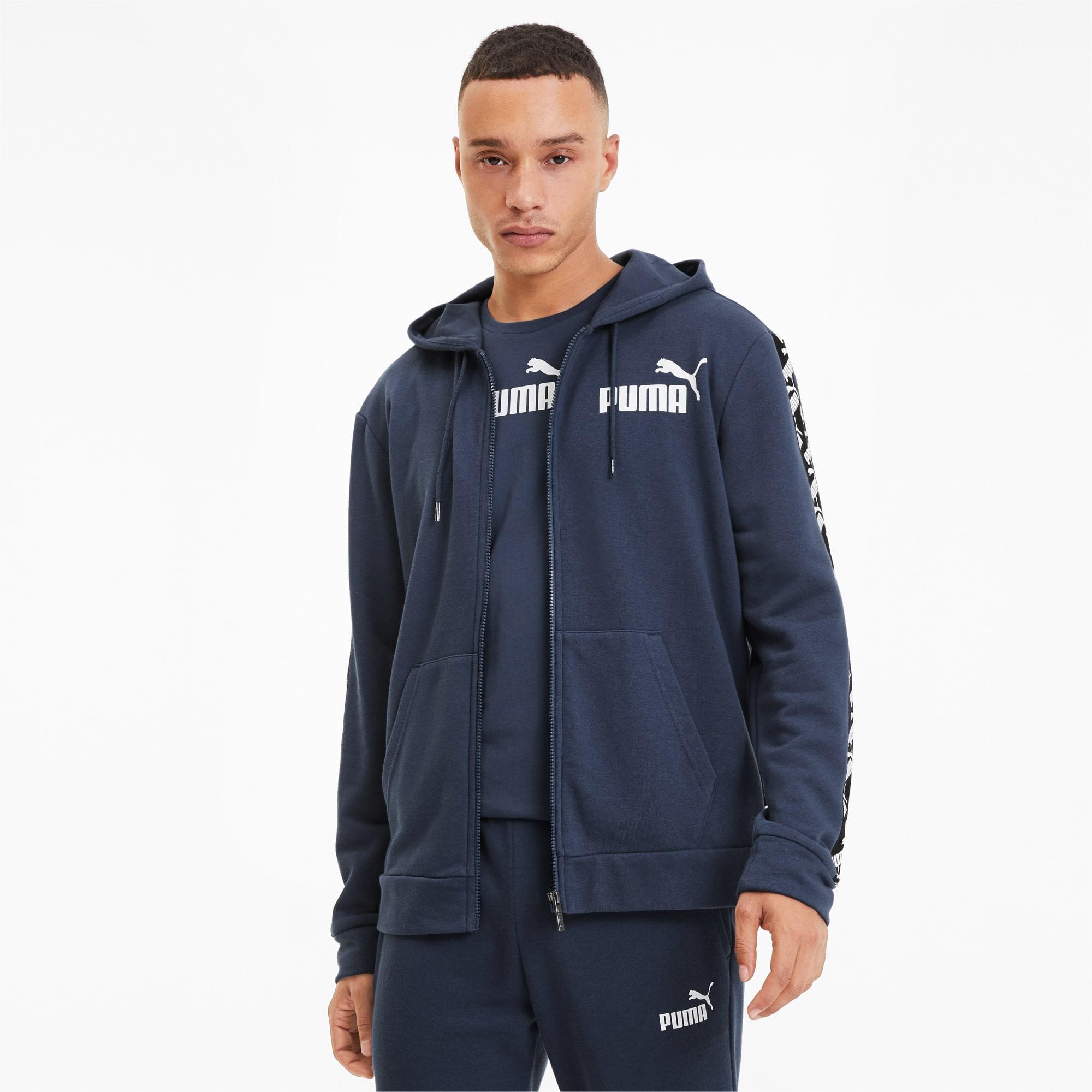 blouson de sweat à capuche amplified training pour homme, bleu, taille xs, vêtements