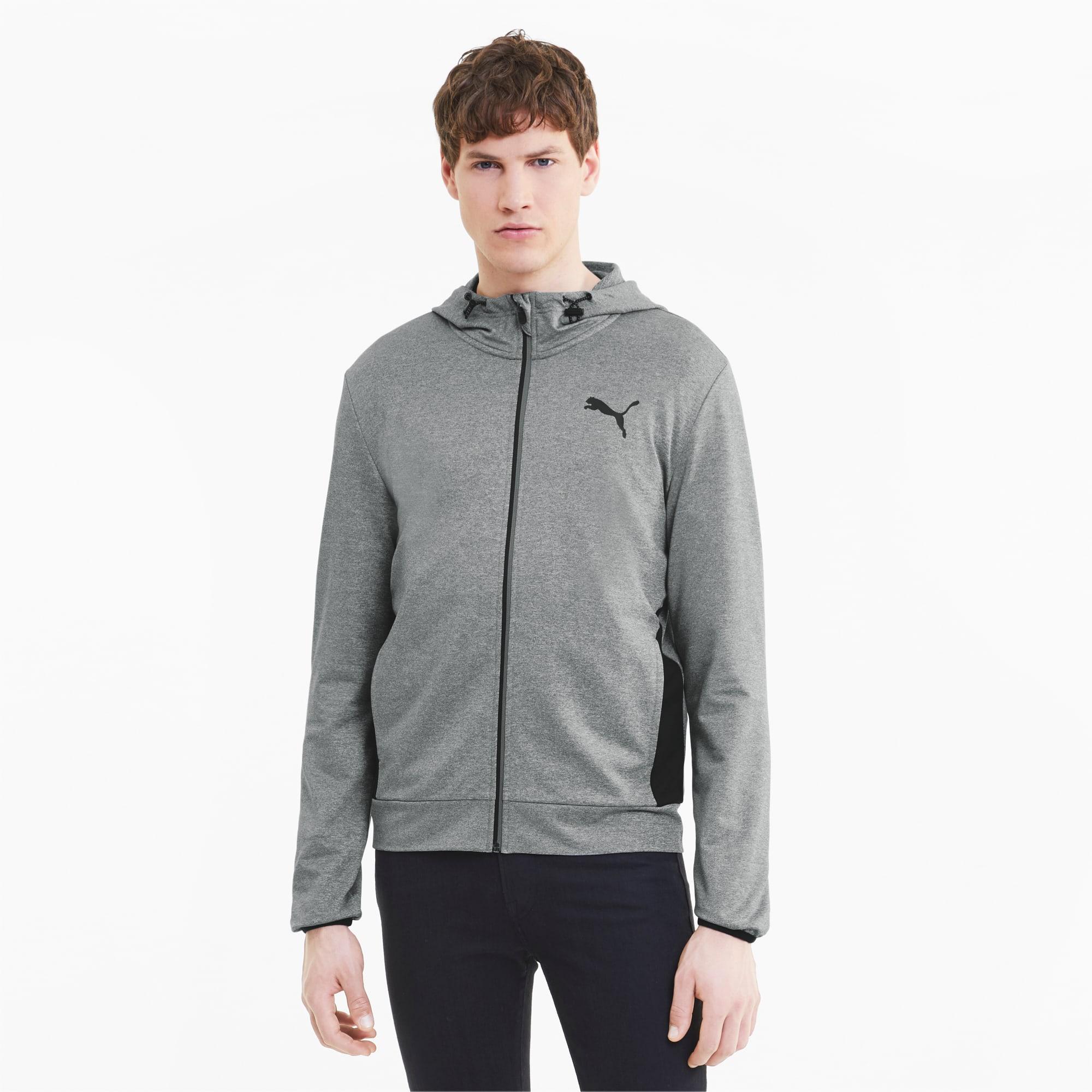 blouson en sweat avec capuche pour homme, gris/bruyère, taille xl, vêtements