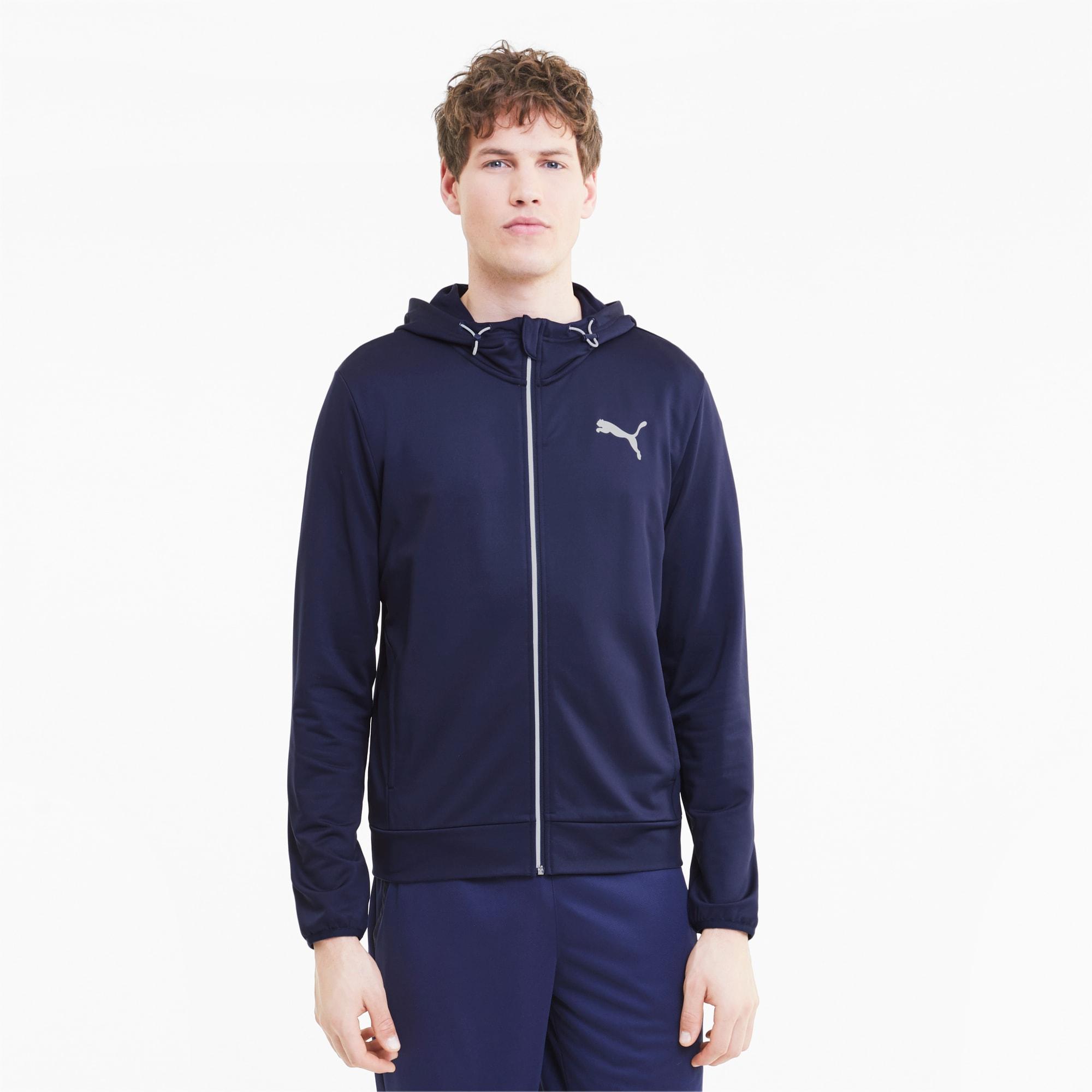 blouson en sweat avec capuche pour homme, bleu, taille s, vêtements