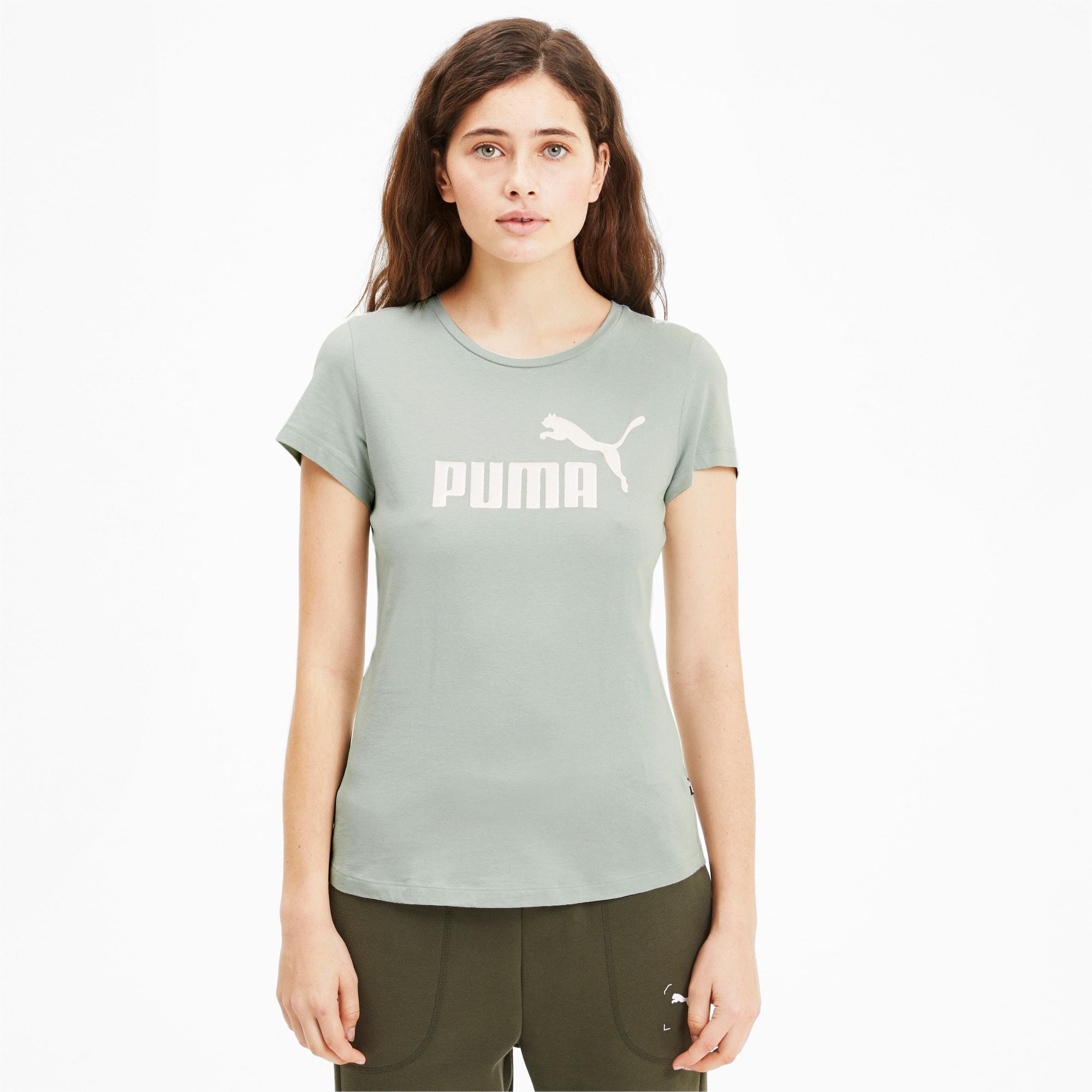 puma Essentials+ Metallic T-shirt voor Dames, GrijsL