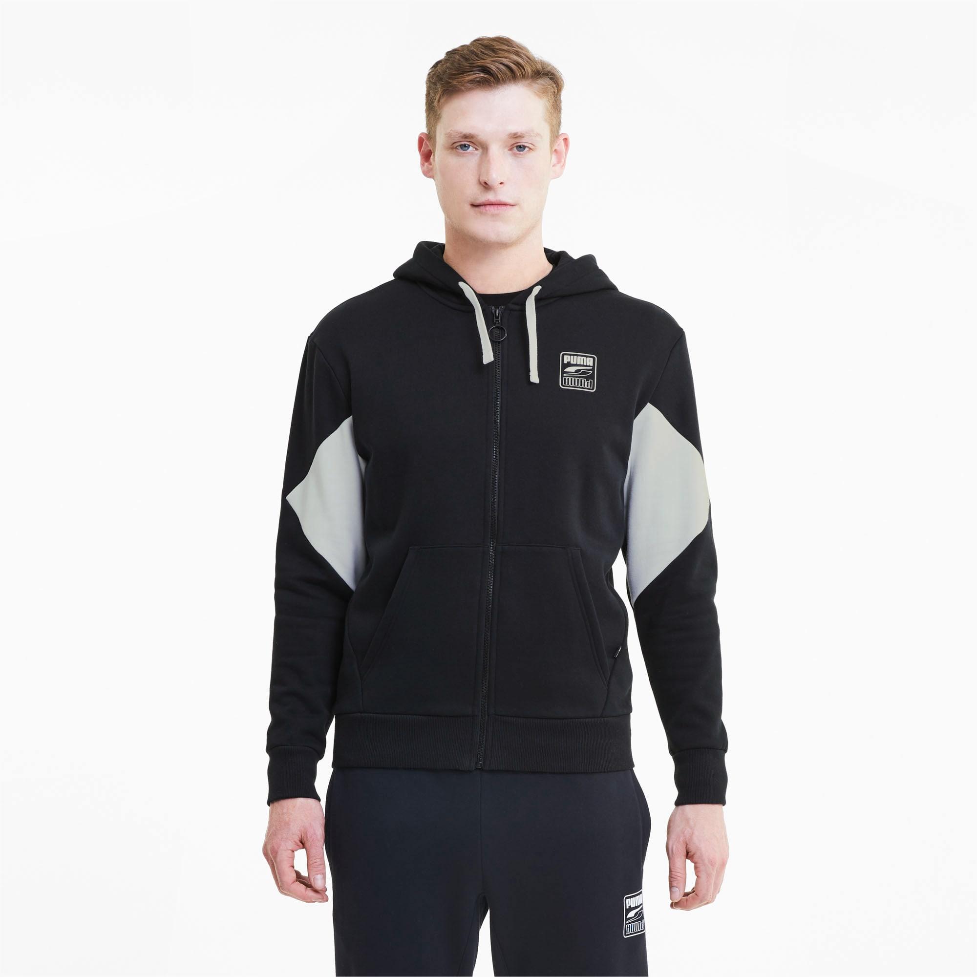 blouson en sweat rebel avec capuche pour homme, noir, taille xs, vêtements