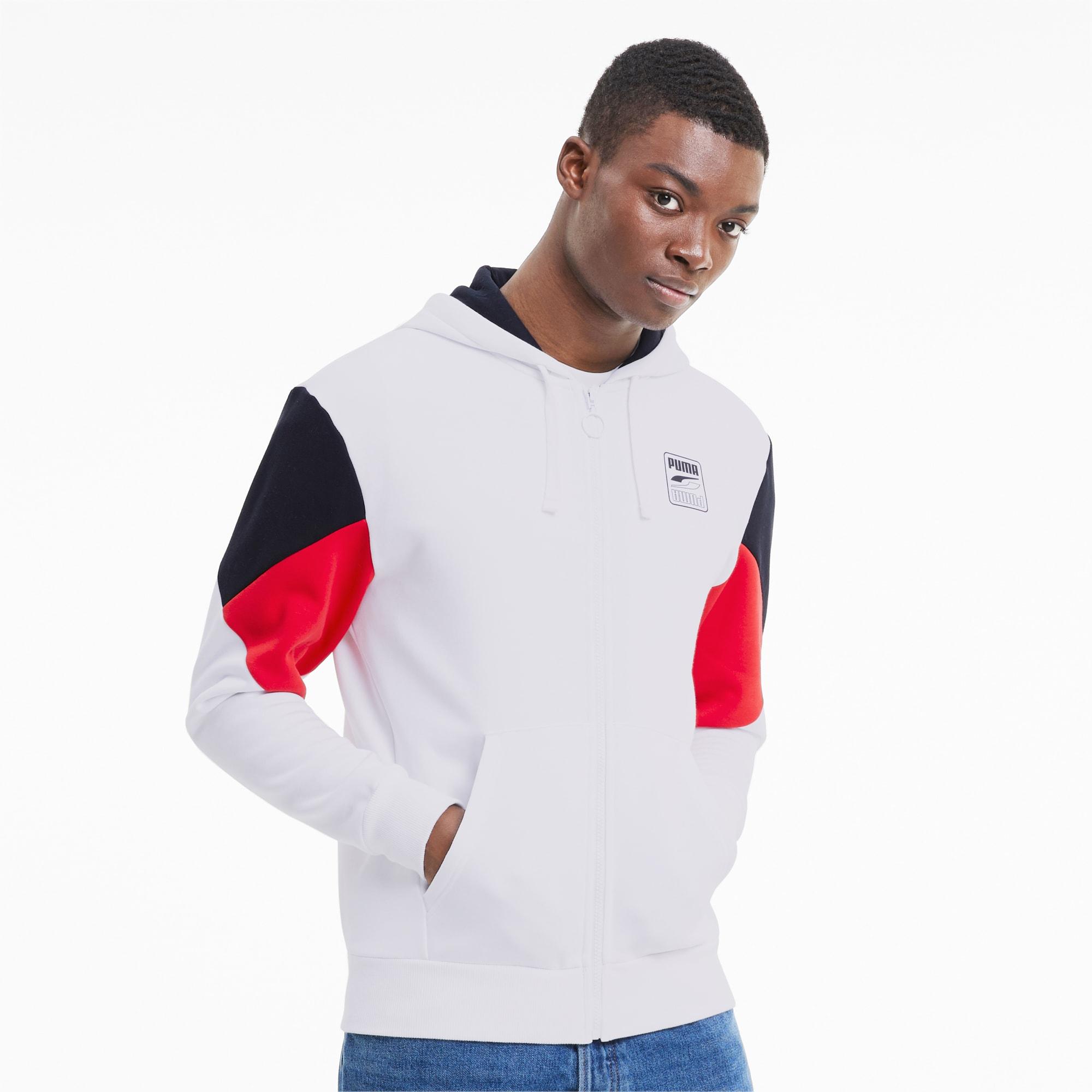 blouson en sweat rebel avec capuche pour homme, blanc, taille xs, vêtements