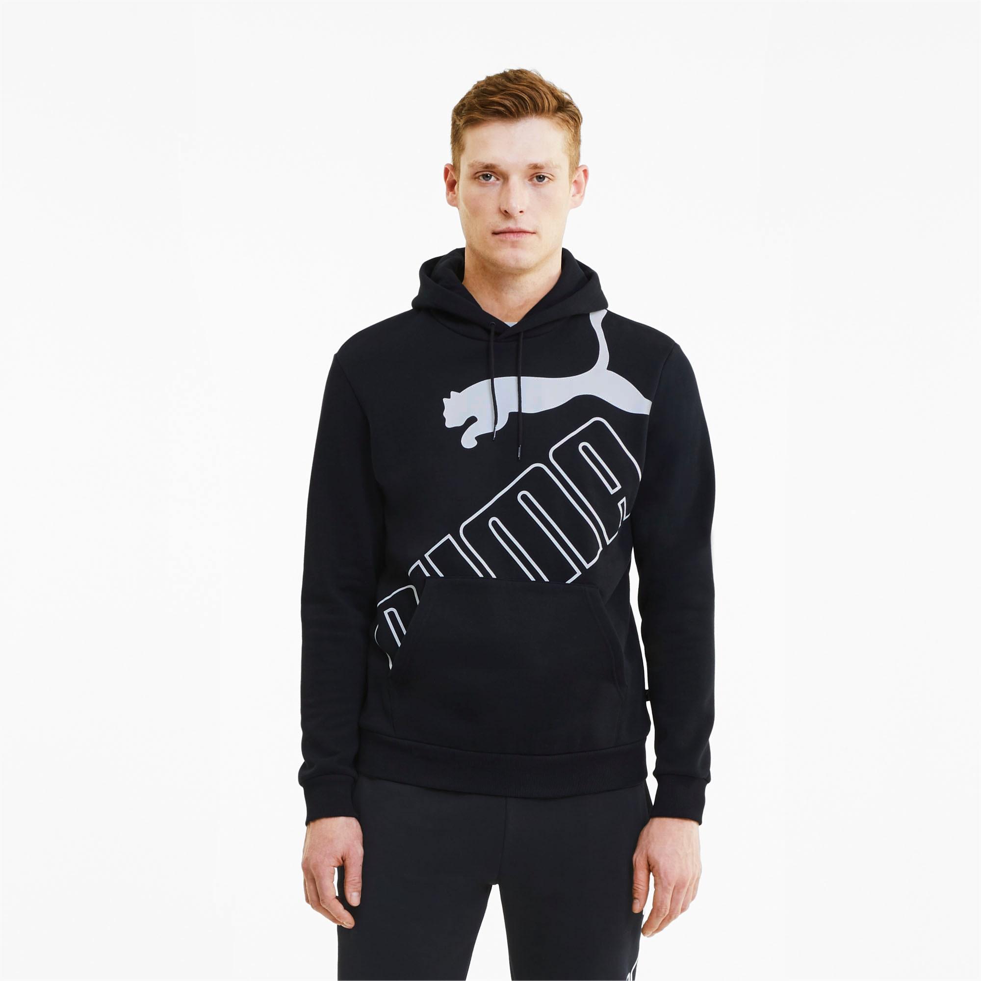sweatshirt à capuche big logo pour homme, noir, taille xs, vêtements
