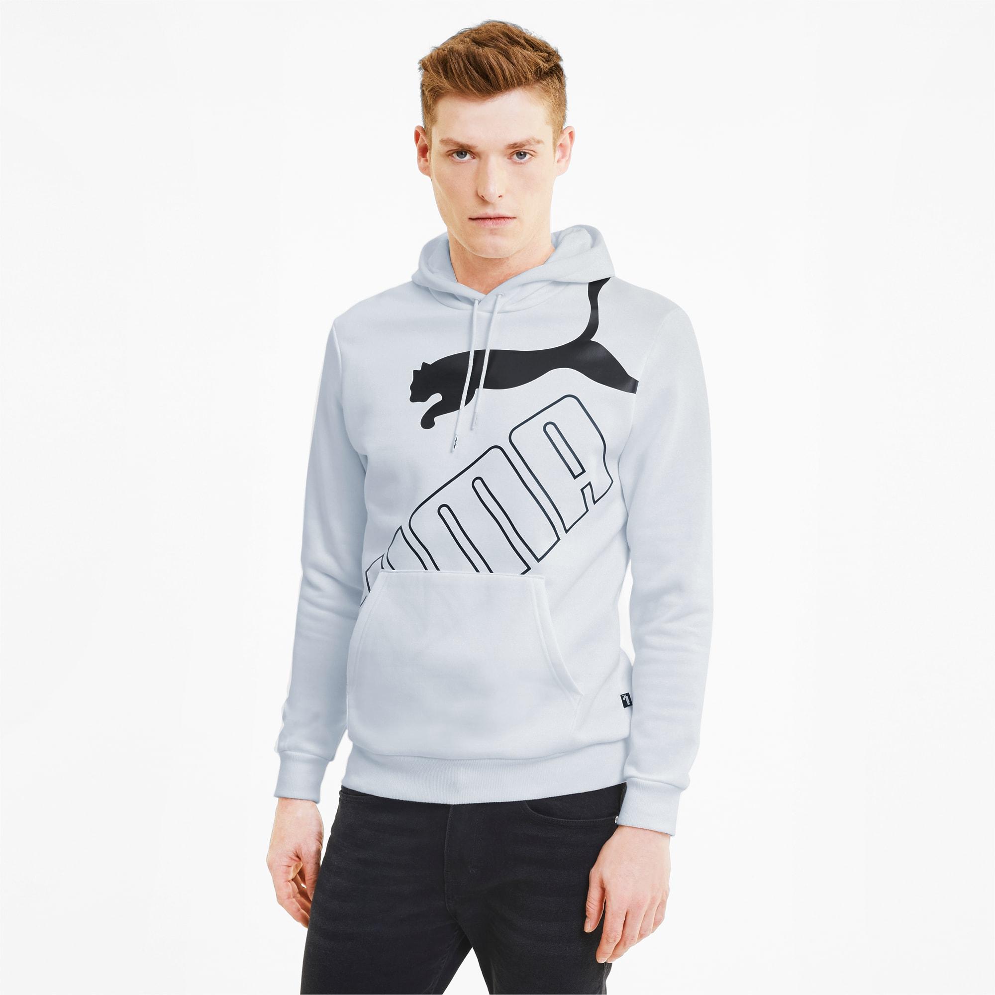 sweatshirt à capuche big logo pour homme, blanc, taille xs, vêtements