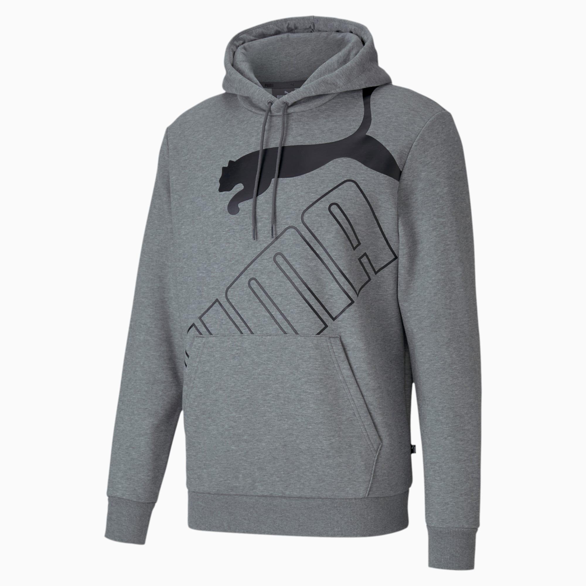 sweatshirt à capuche big logo pour homme, gris/bruyère, taille s, vêtements