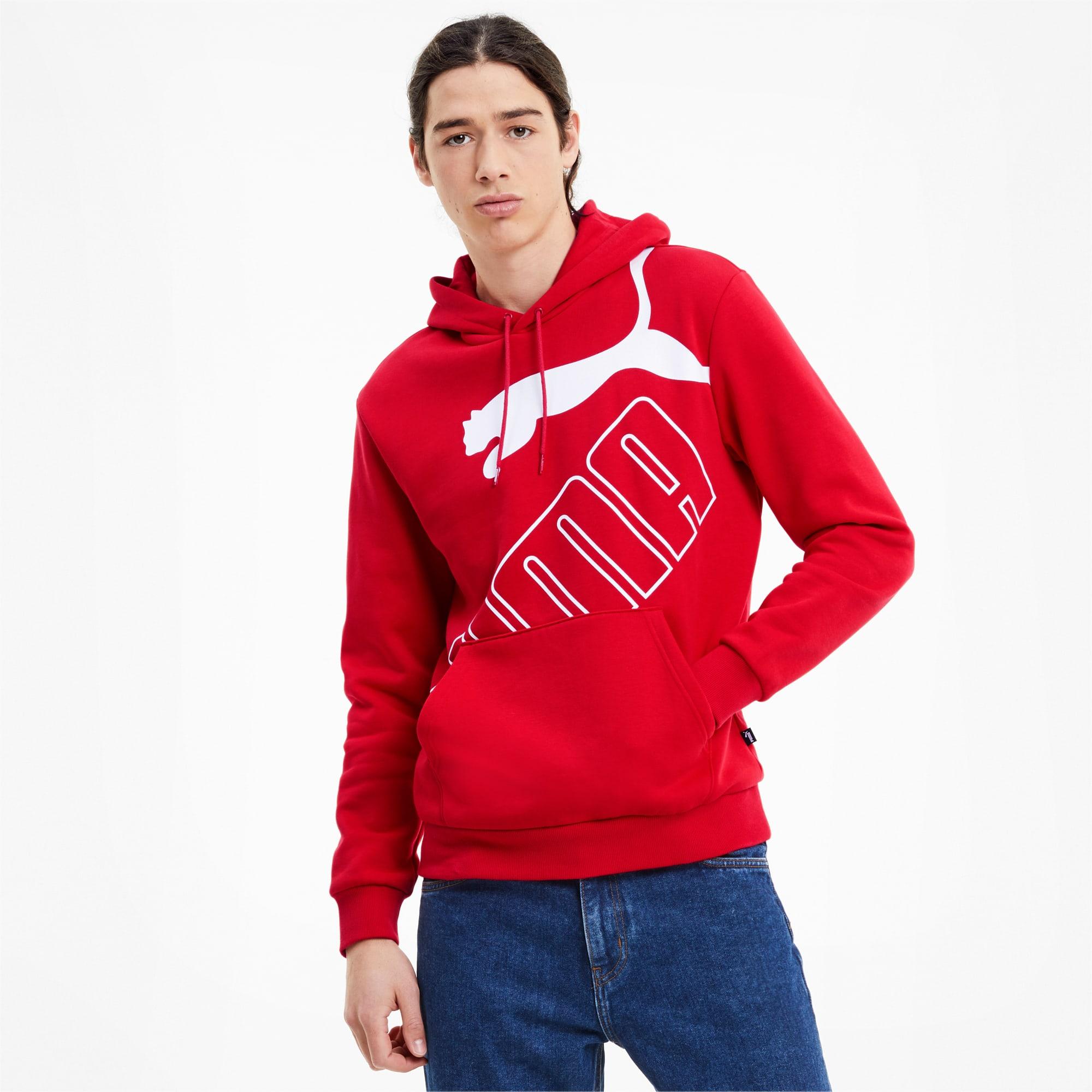sweatshirt à capuche big logo pour homme, rouge, taille xs, vêtements