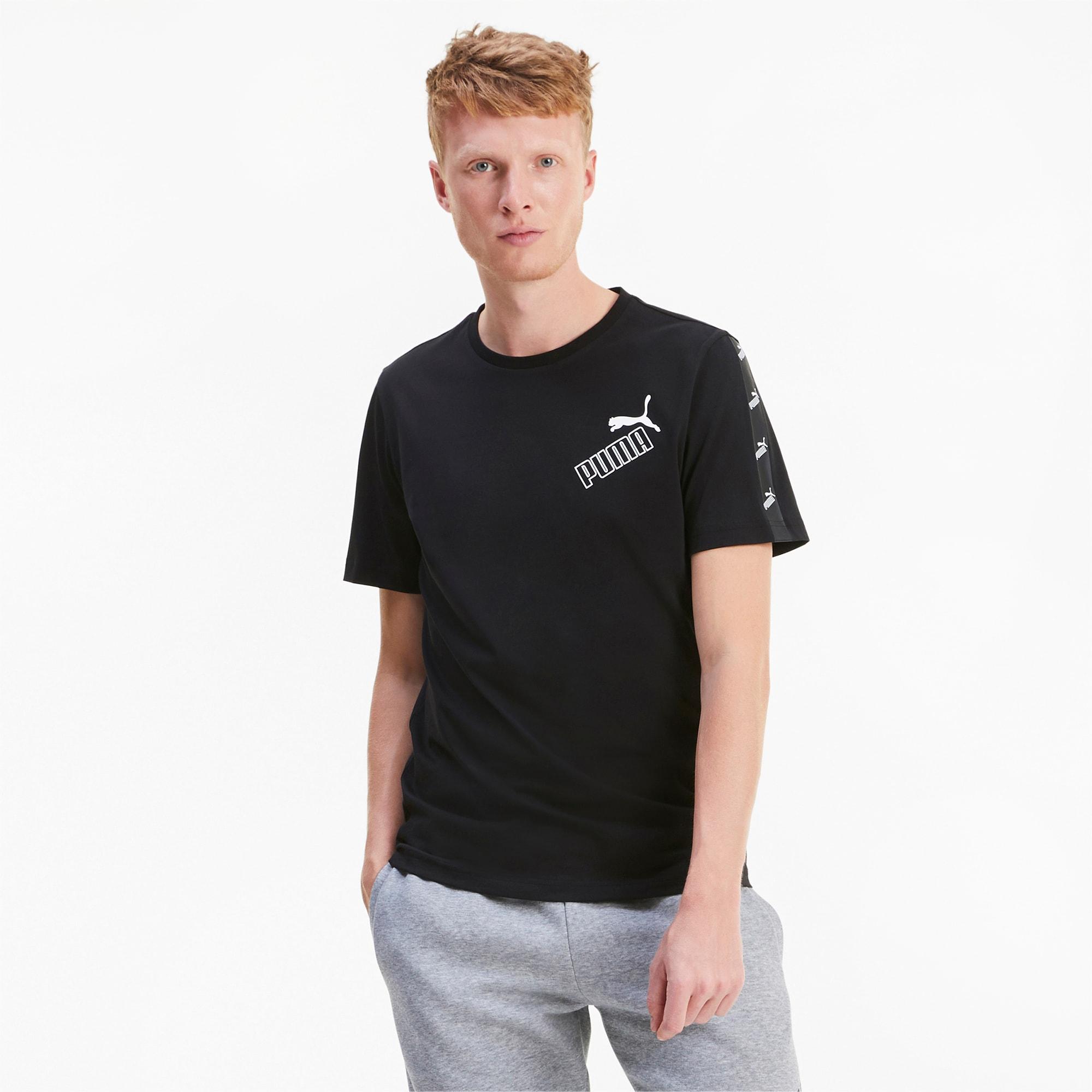 PUMA Amplified Herren T-Shirt | Mit Aucun | Schwarz | Größe: L