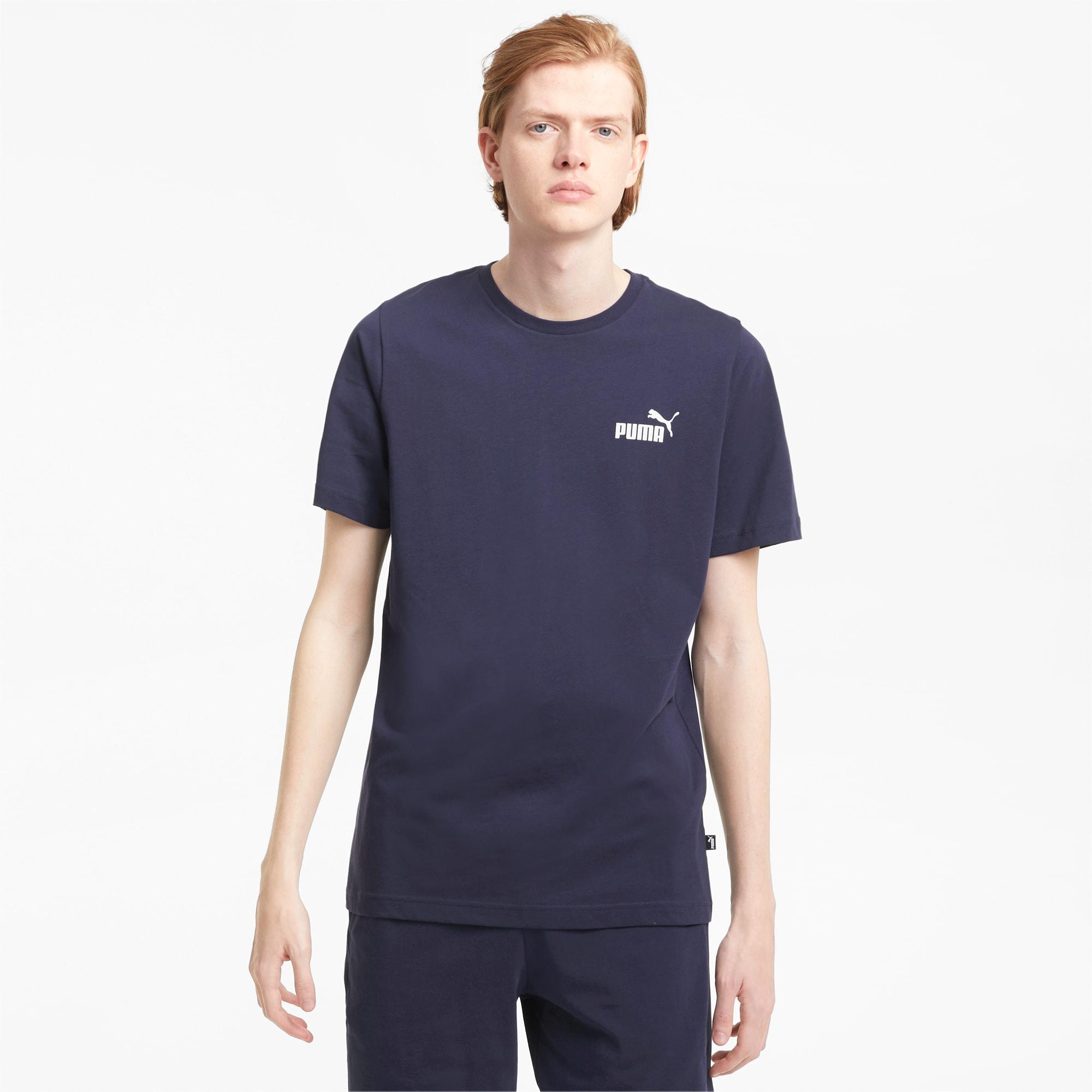 PUMA Essentials Herren T-Shirt mit dezentem Logoprint | Mit Aucun | Blau | Größe: XL