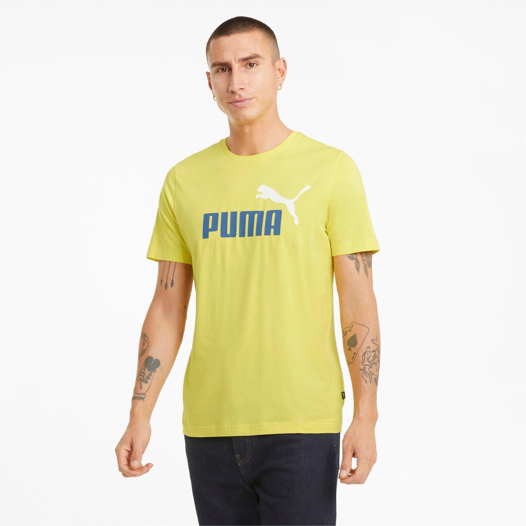 Essentials+ T-shirt met 2-kleuren-logo heren, Maat S   PUMA