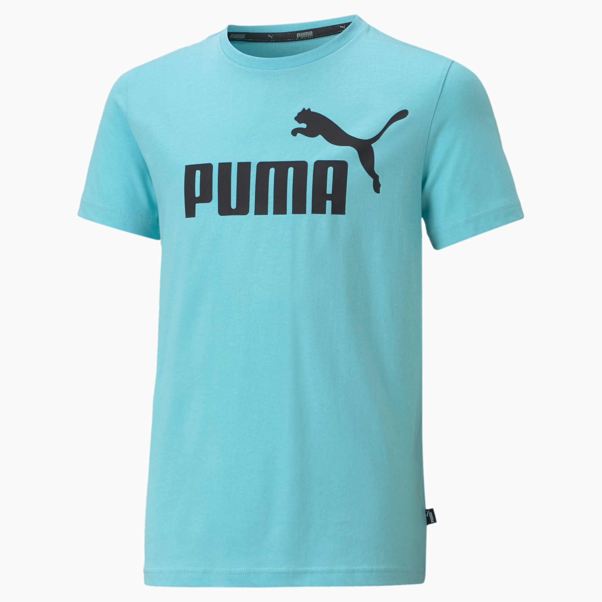 PUMA Essentials Jugend T-Shirt mit Logo Für Kinder   Mit Aucun   Blau   Größe: 110