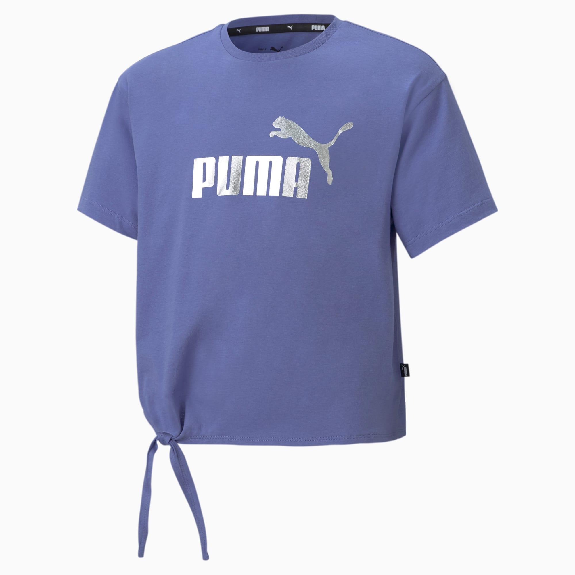 PUMA Essentials+ Jugend T-Shirt mit Logo Für Kinder   Mit Aucun   Blau   Größe: 176