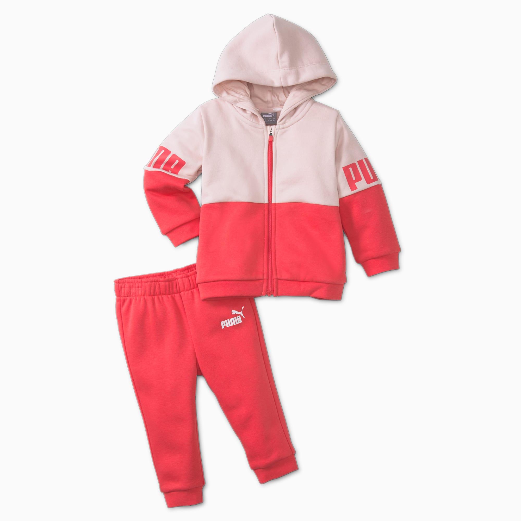 PUMA Minicats Power Babies' Jogger Set, Paradise Pink, size 2T, Clothing
