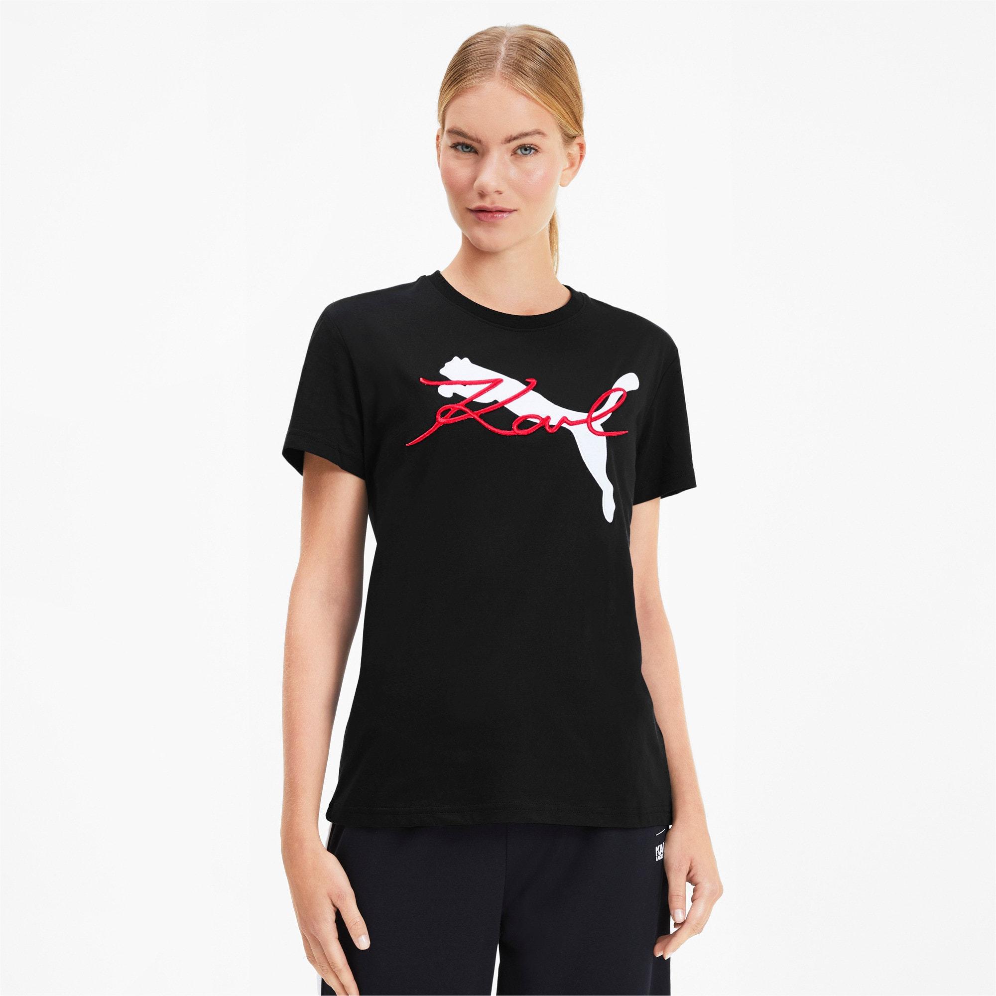 PUMA x KARL LAGERFELD T-shirt voor Dames, Zwart, Maat L