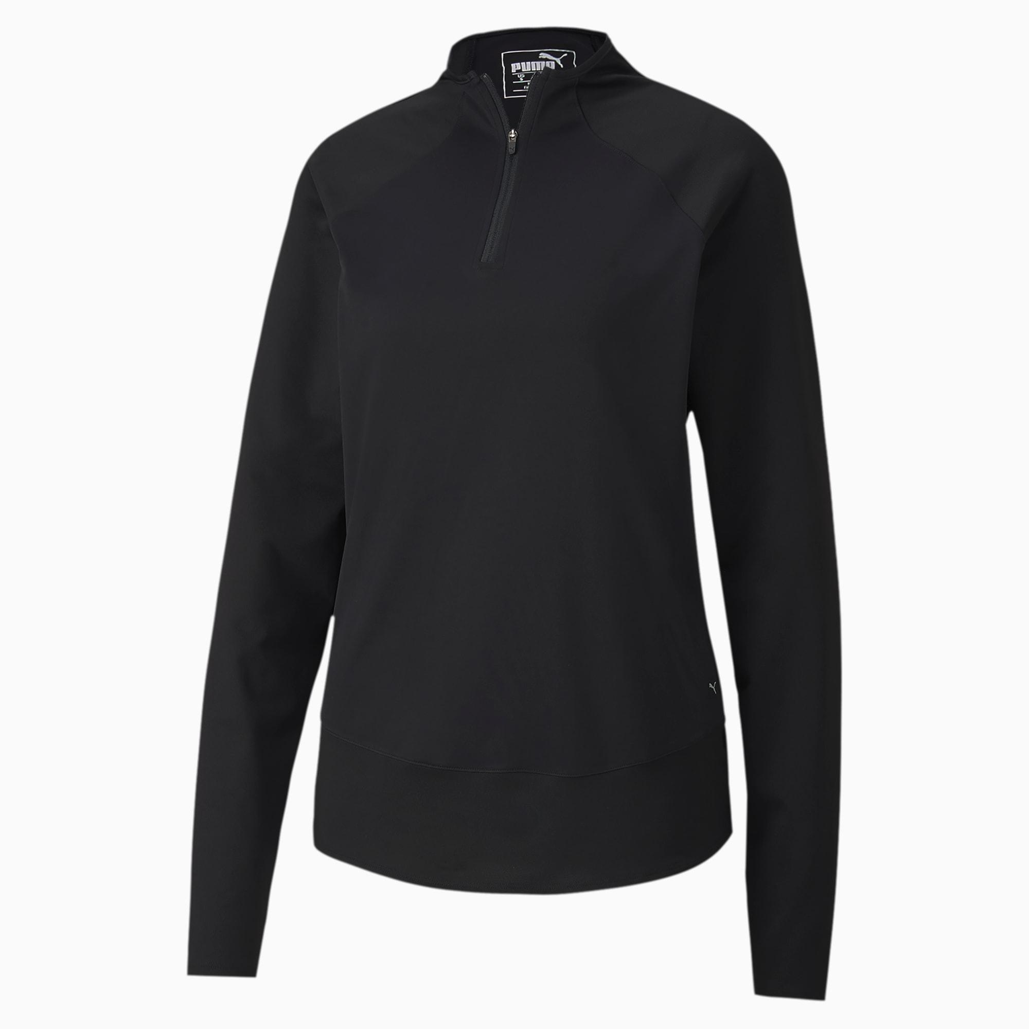Camiseta de Golf Para Mujer Mesh 1/4 Zip, Negro, Talla XL | PUMA Mujeres