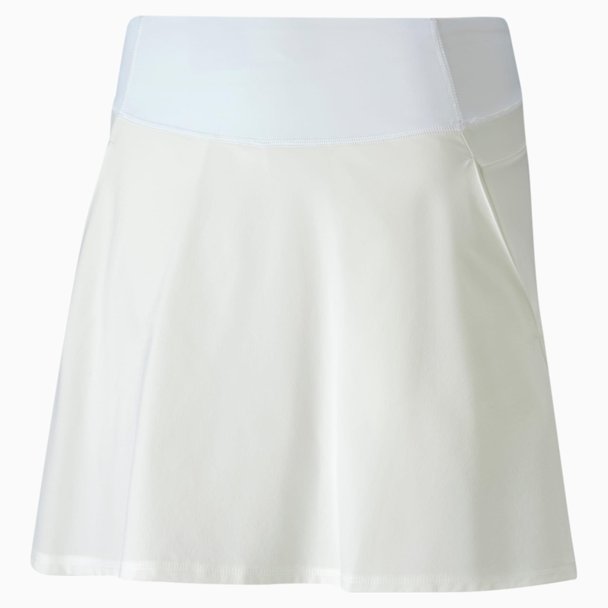 PWRSHAPE Solid Woven golfrok voor Dames, Wit, Maat XS   PUMA