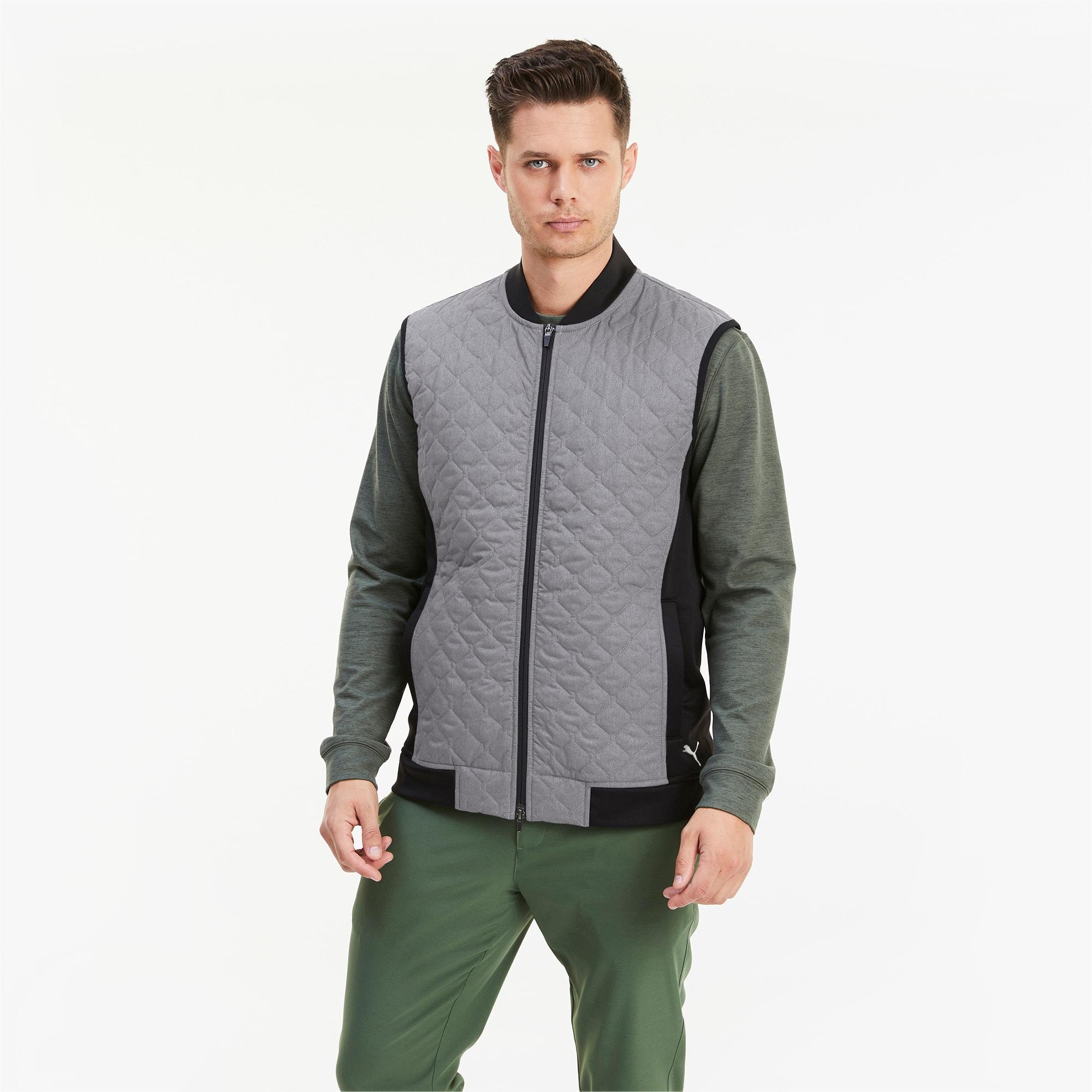 gilet de golf matelassé primaloft® stlth pour homme, noir, taille s, vêtements