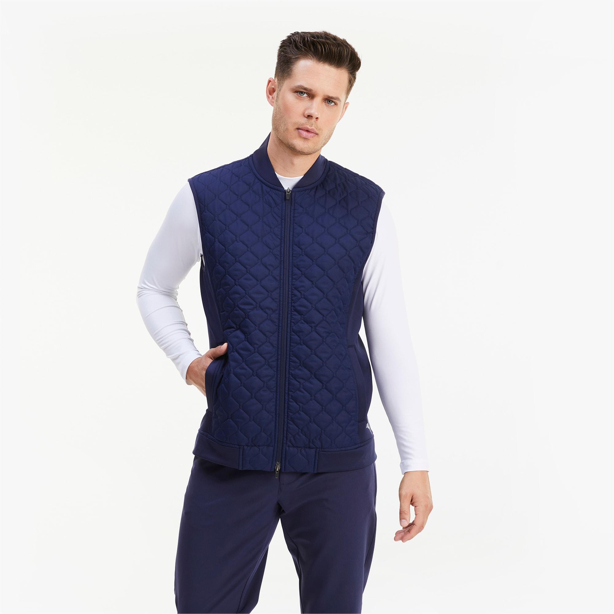 gilet de golf matelassé primaloft® stlth pour homme, bleu, taille l, vêtements