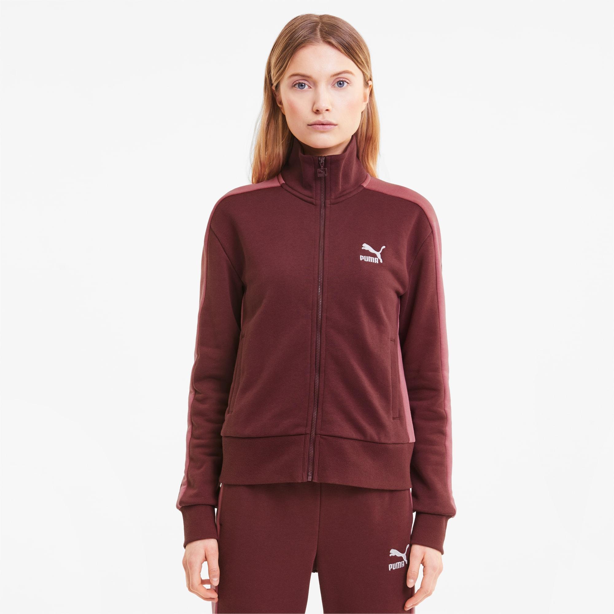 puma -  Iconic T7 Damen Trainingsjacke | Mit Aucun | Rot | Größe: XS