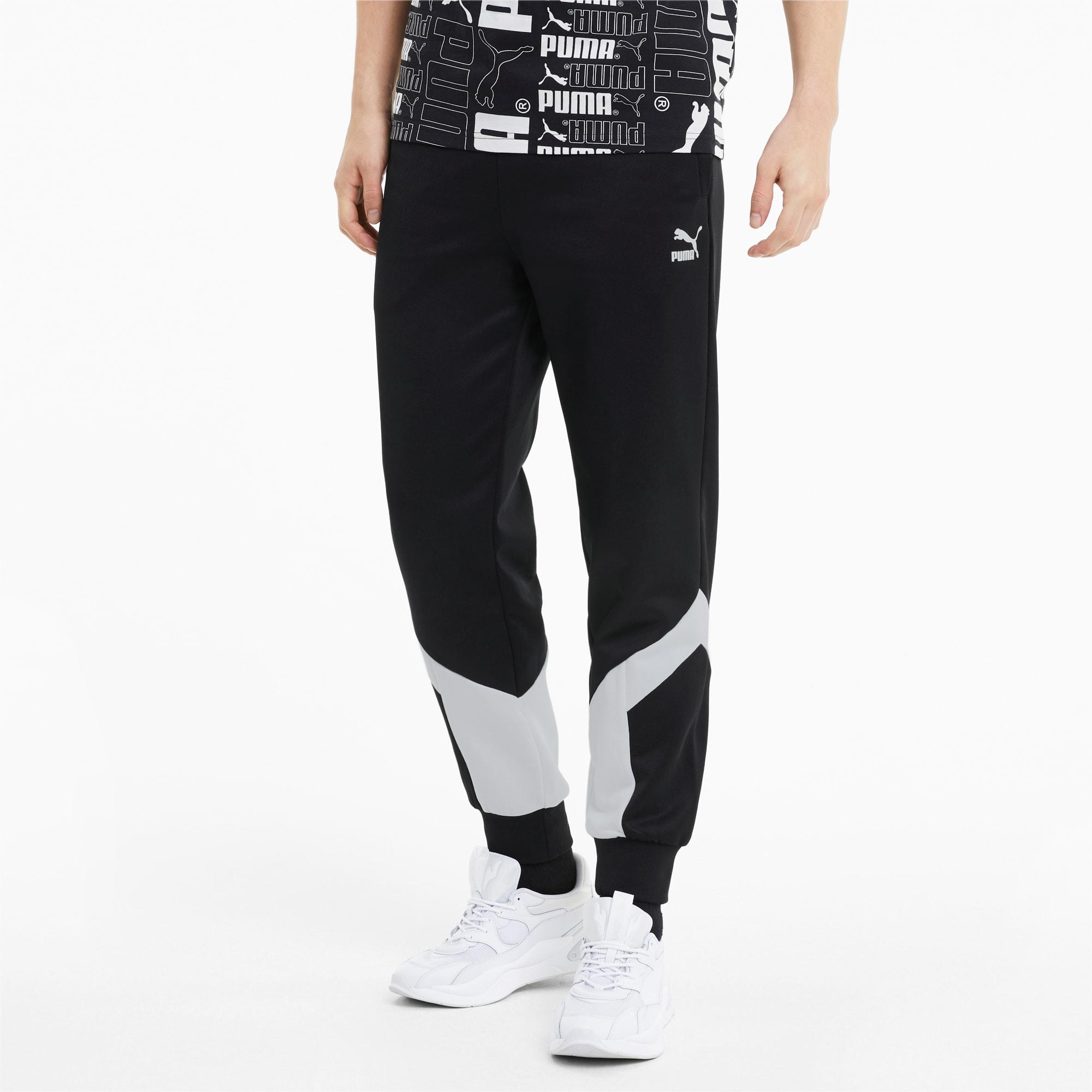 puma -  Iconic MCS Knitted Herren Trainingshose | Schwarz | Größe: M