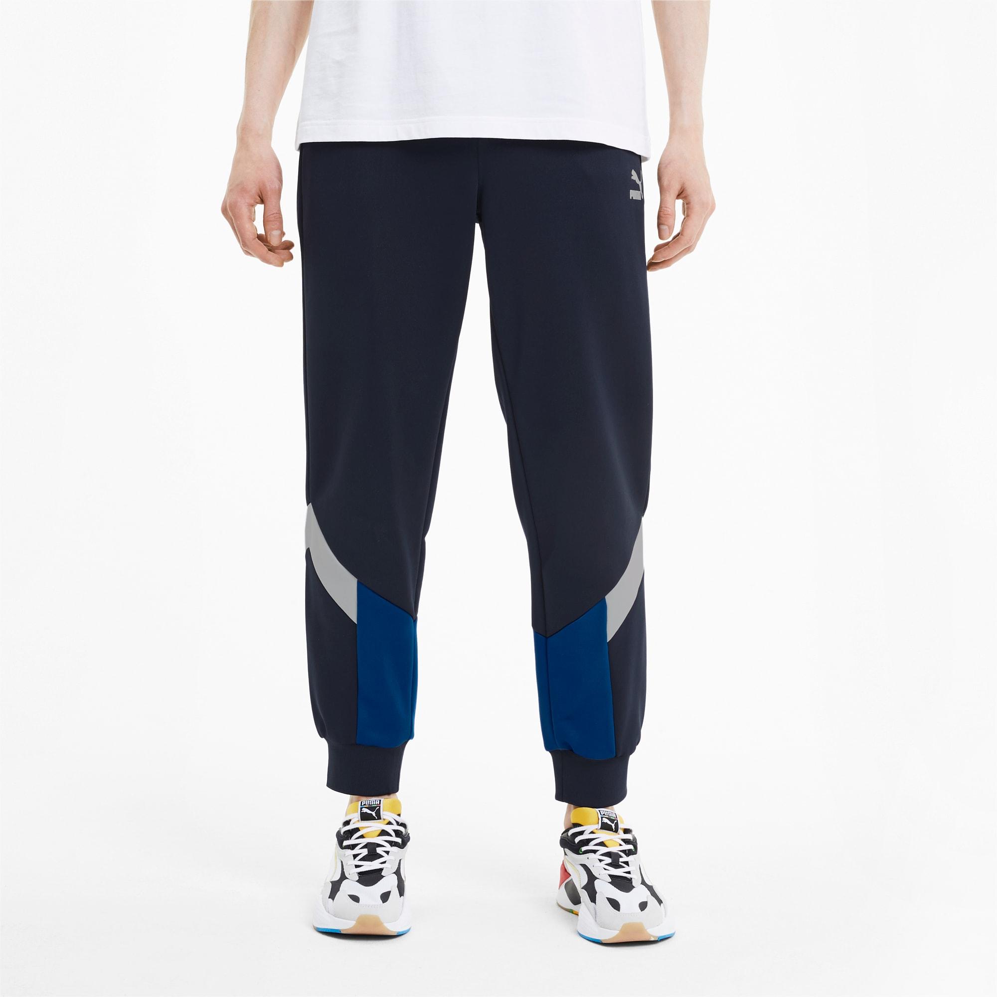 puma -  Iconic MCS Knitted Herren Trainingshose | Blau | Größe: L