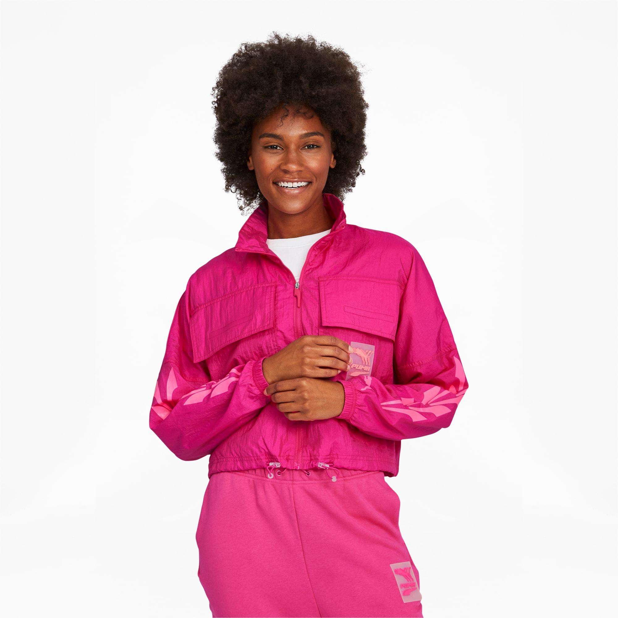 puma -  Evide Gewebte Damen Trainingsjacke | Mit Aucun | Lila | Größe: S