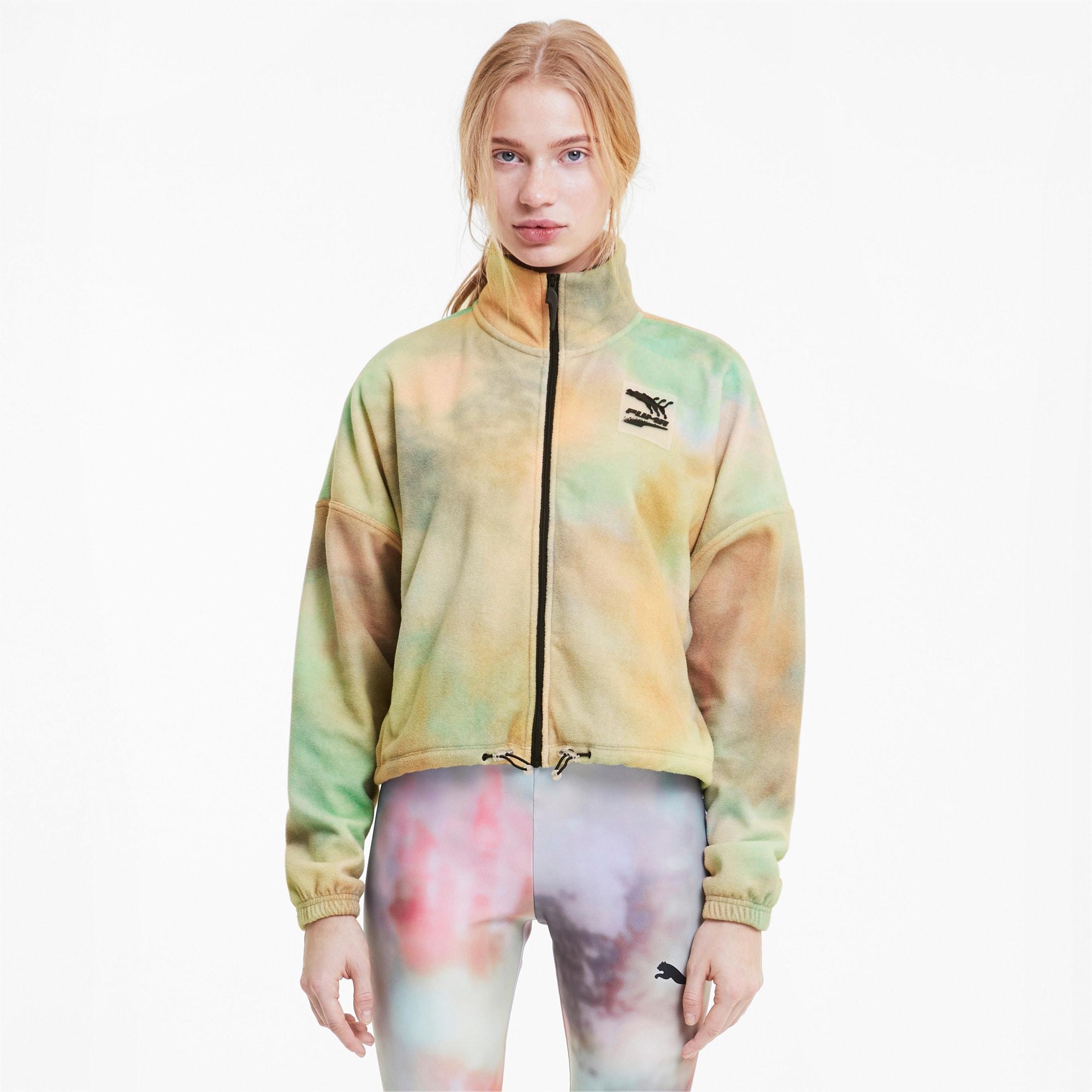 puma -  Evide AOP Damen Trainingsjacke aus Fleece | Mit Aucun | Weiß | Größe: XL