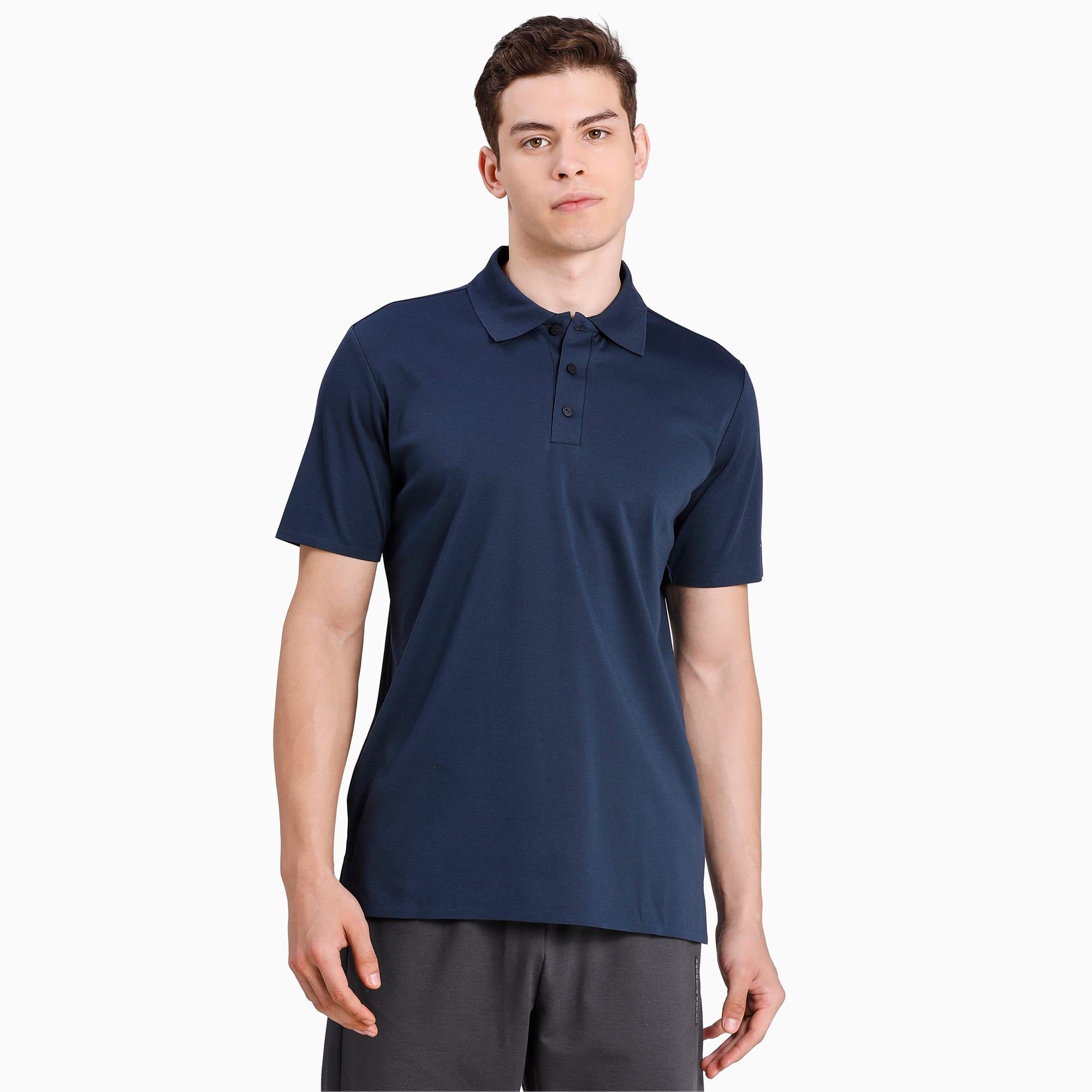 PUMA Porsche Design Herren Poloshirt | Mit Aucun | Blau | Größe: M 598216_02_M