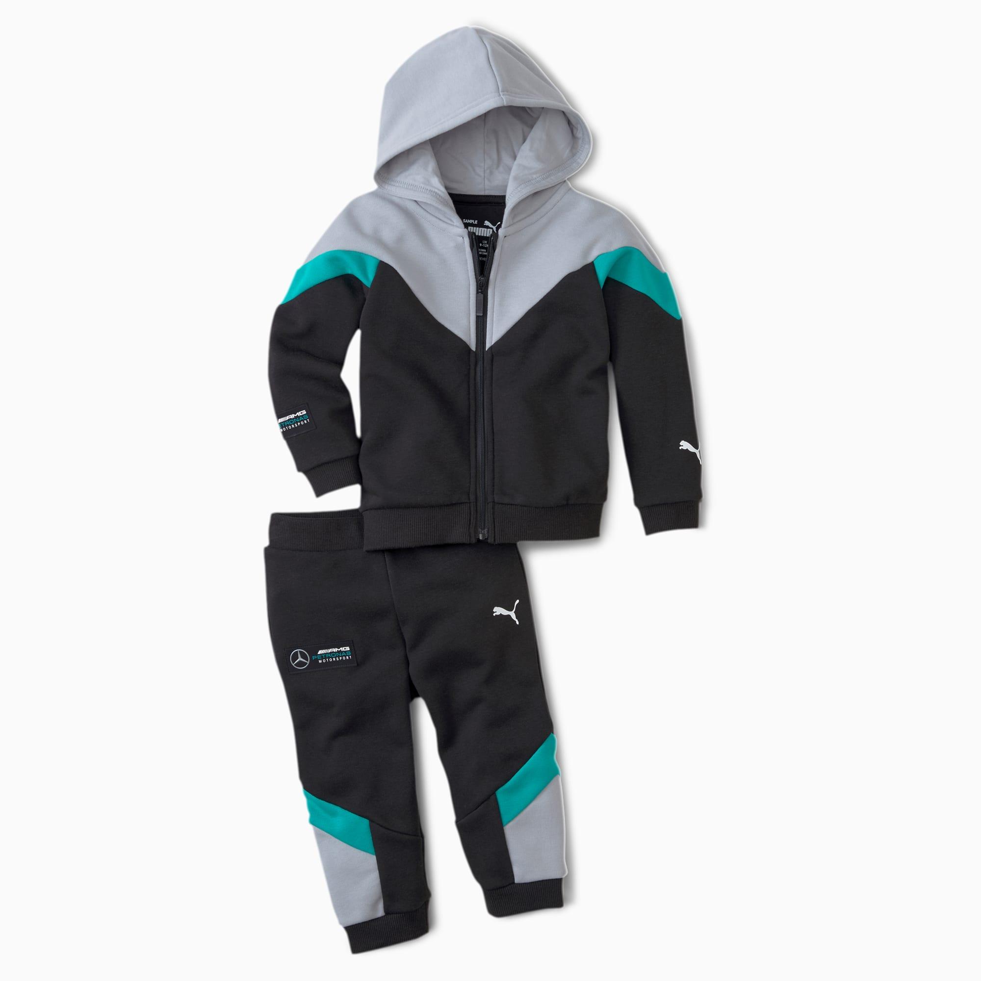 PUMA Mercedes Babies Jogginganzug-Set Für Kinder   Mit Aucun   Schwarz   Größe: 74 598336_01_74
