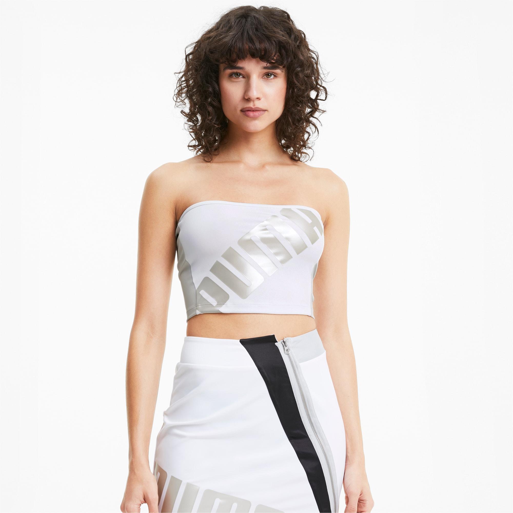 puma -  T7 2020 Fashion Damen Bandeau-Top | Mit Aucun | Weiß | Größe: L