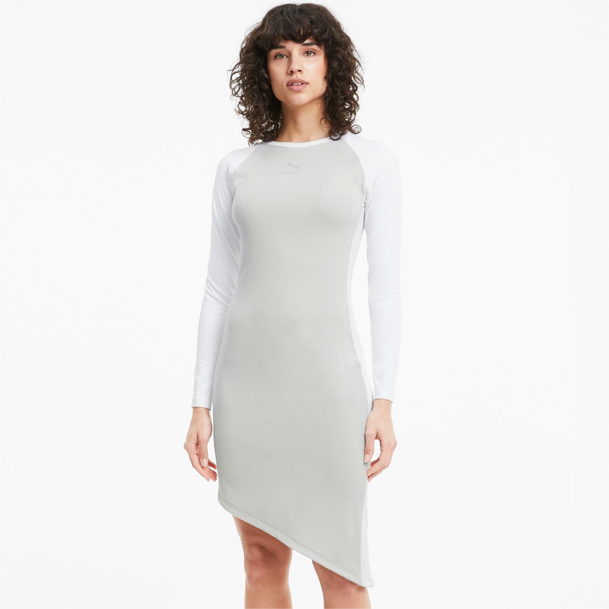PUMA Damska Sukienka T7 2020 Fashion, Szary, rozmiar XS, Odzież