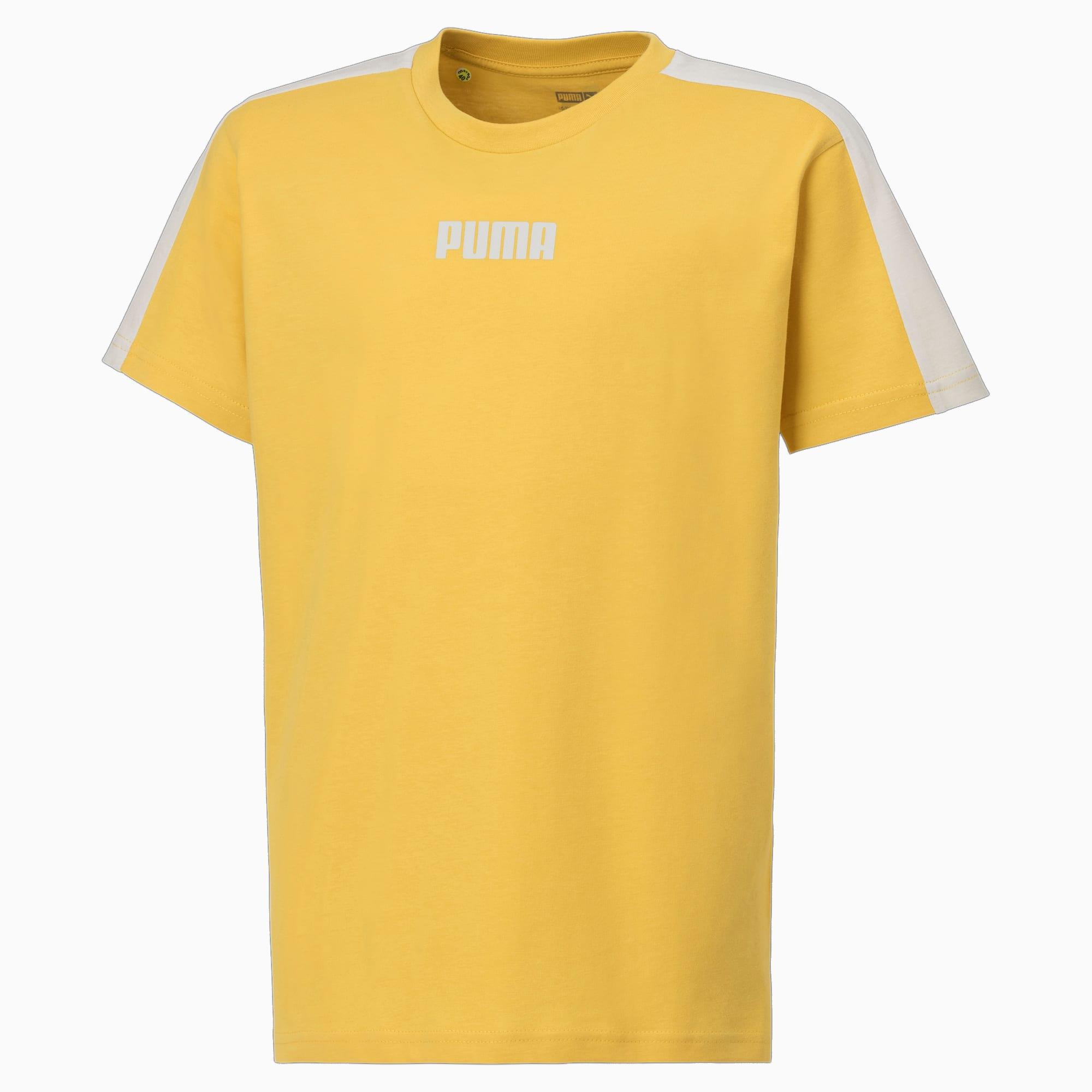 PUMA Logo Kinder T-Shirt   Mit Aucun   Gelb