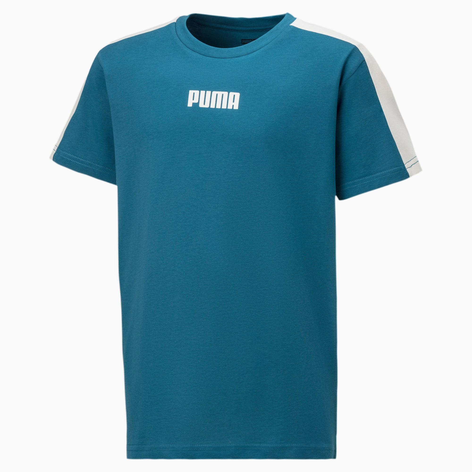 PUMA Logo Kinder T-Shirt   Mit Aucun   Blau