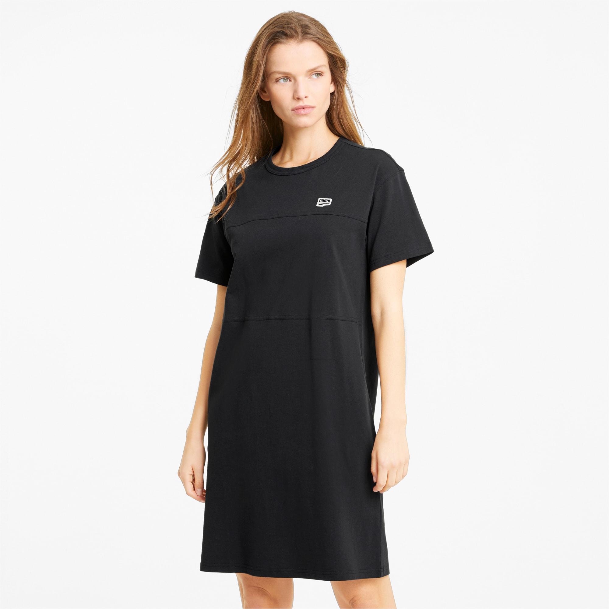 PUMA Downtown Women's Tee Dress, Black, size Medium, Clothing