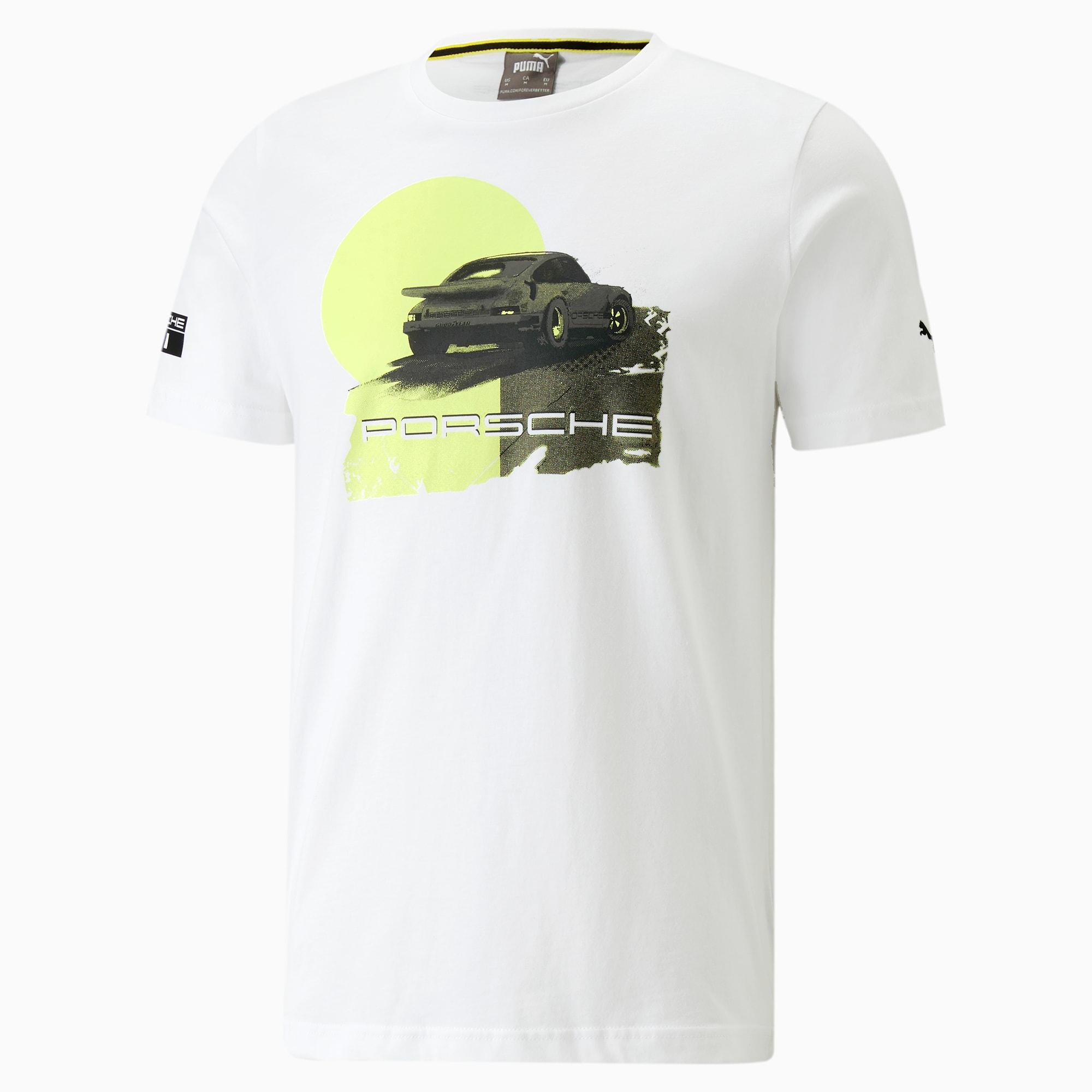 PUMA Porsche Legacy T-Shirt mit Grafik   Mit Aucun   Weiß   Größe: M