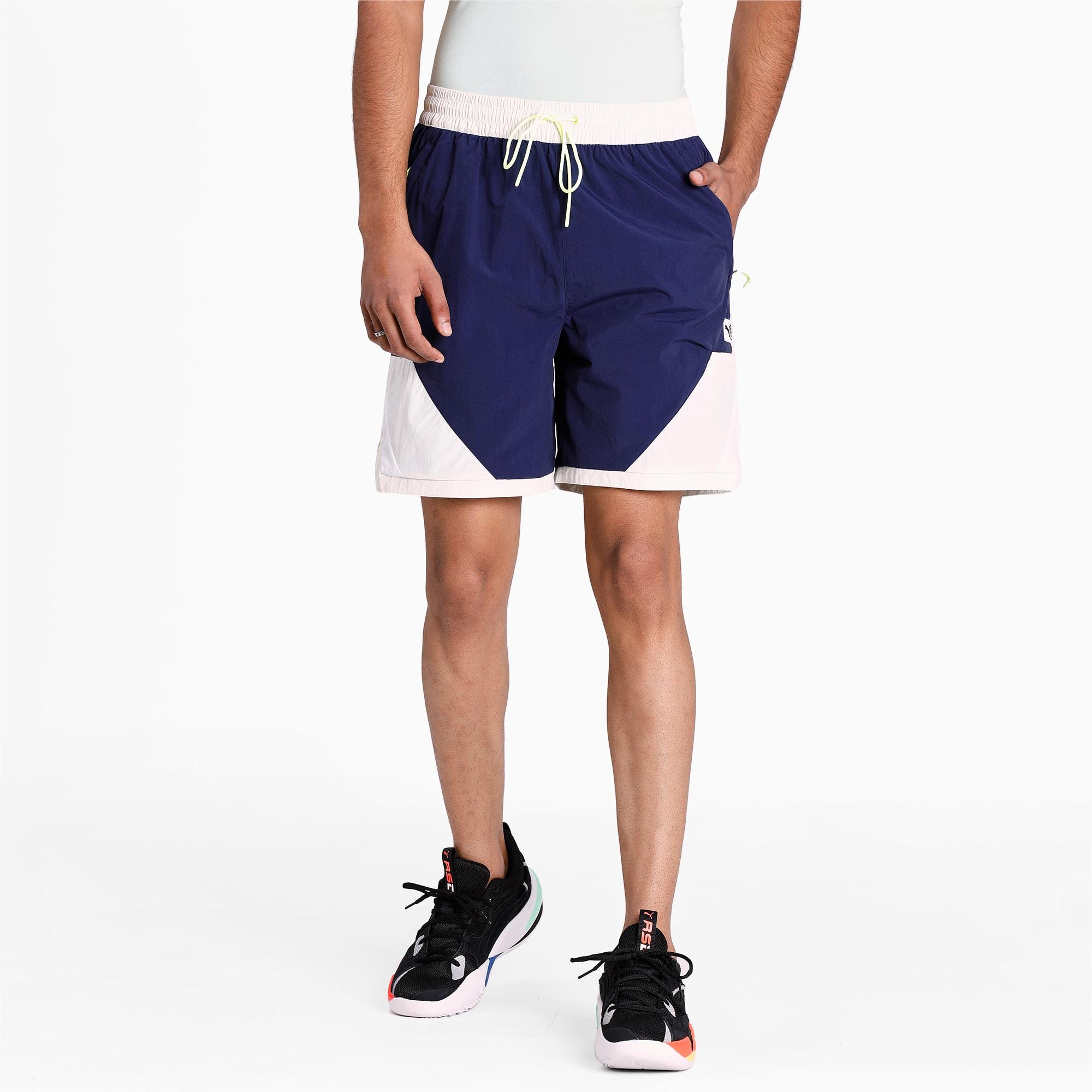 Shorts Parquet Basketball Para Hombre, Azul, Talla L   PUMA Hombres