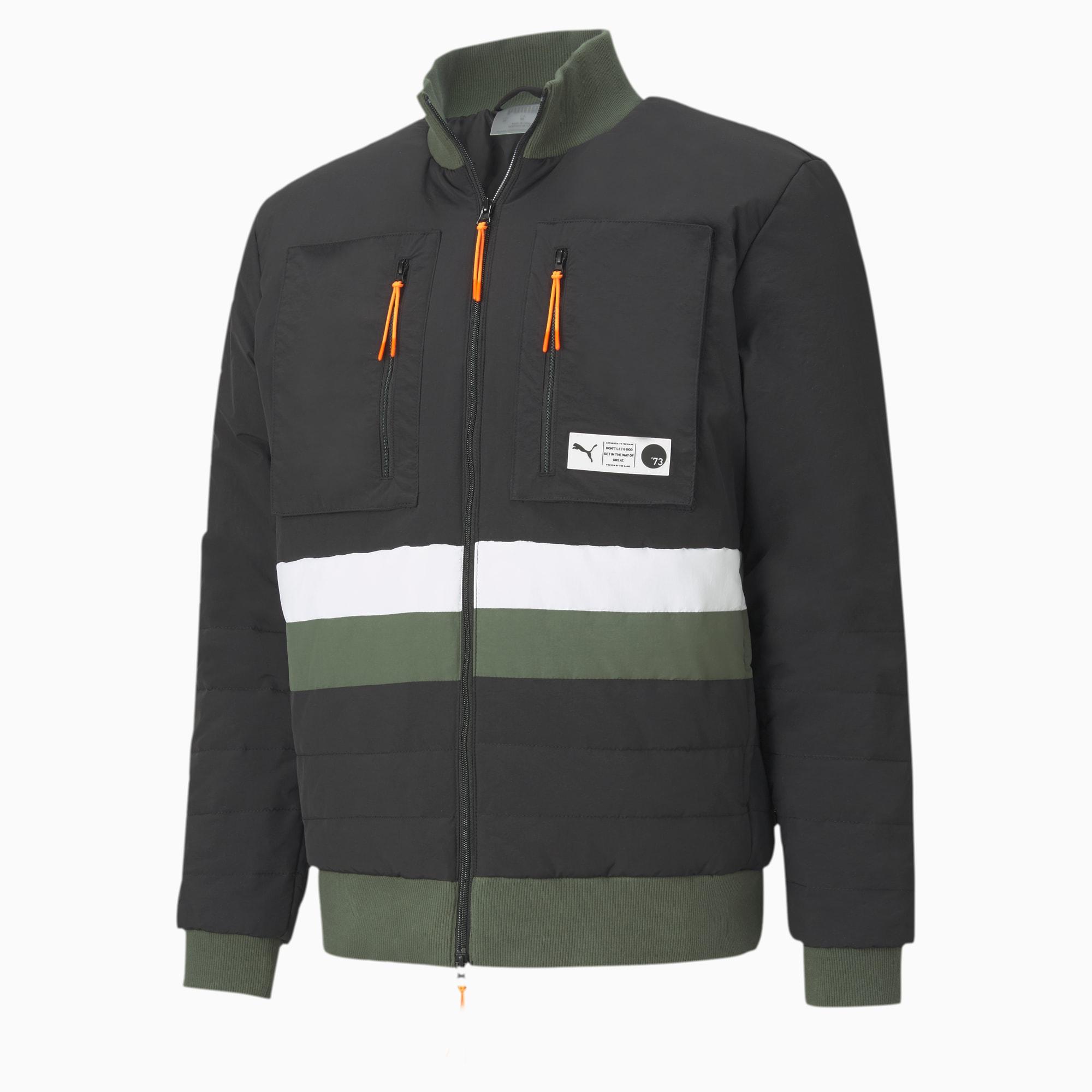 Parquet Puffer Basketball Jacket voor Heren, Zwart, Maat XL   PUMA