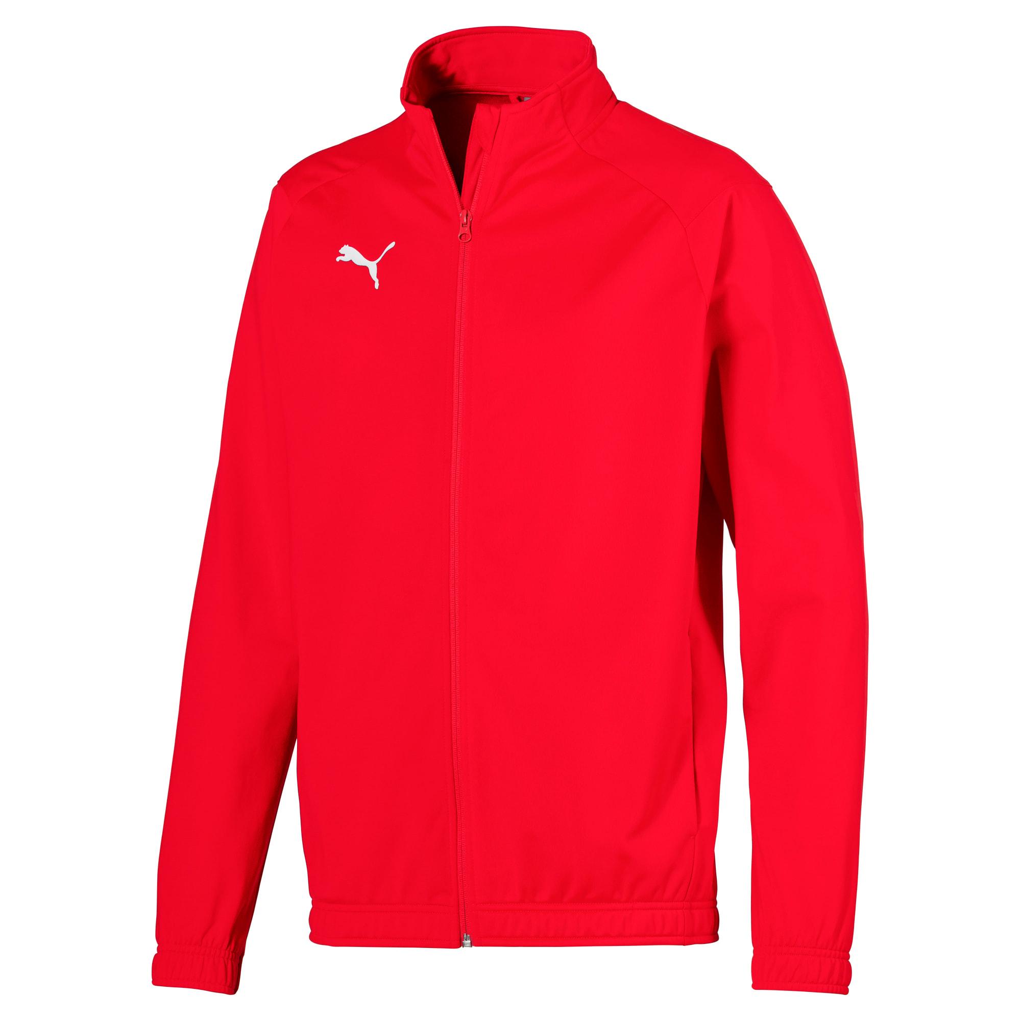 blouson de football liga sideline poly core pour homme, rouge/blanc, taille s, vêtements