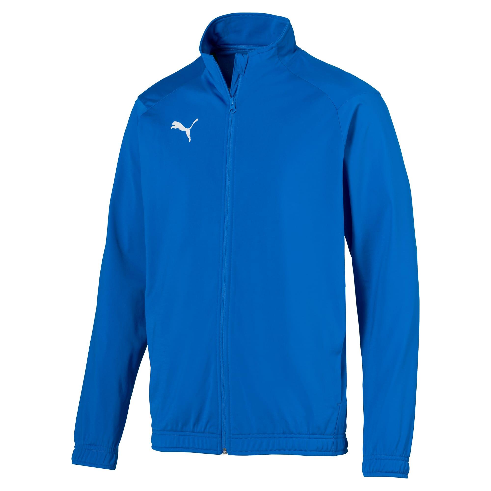 blouson de football liga sideline poly core pour homme, bleu, taille s, vêtements