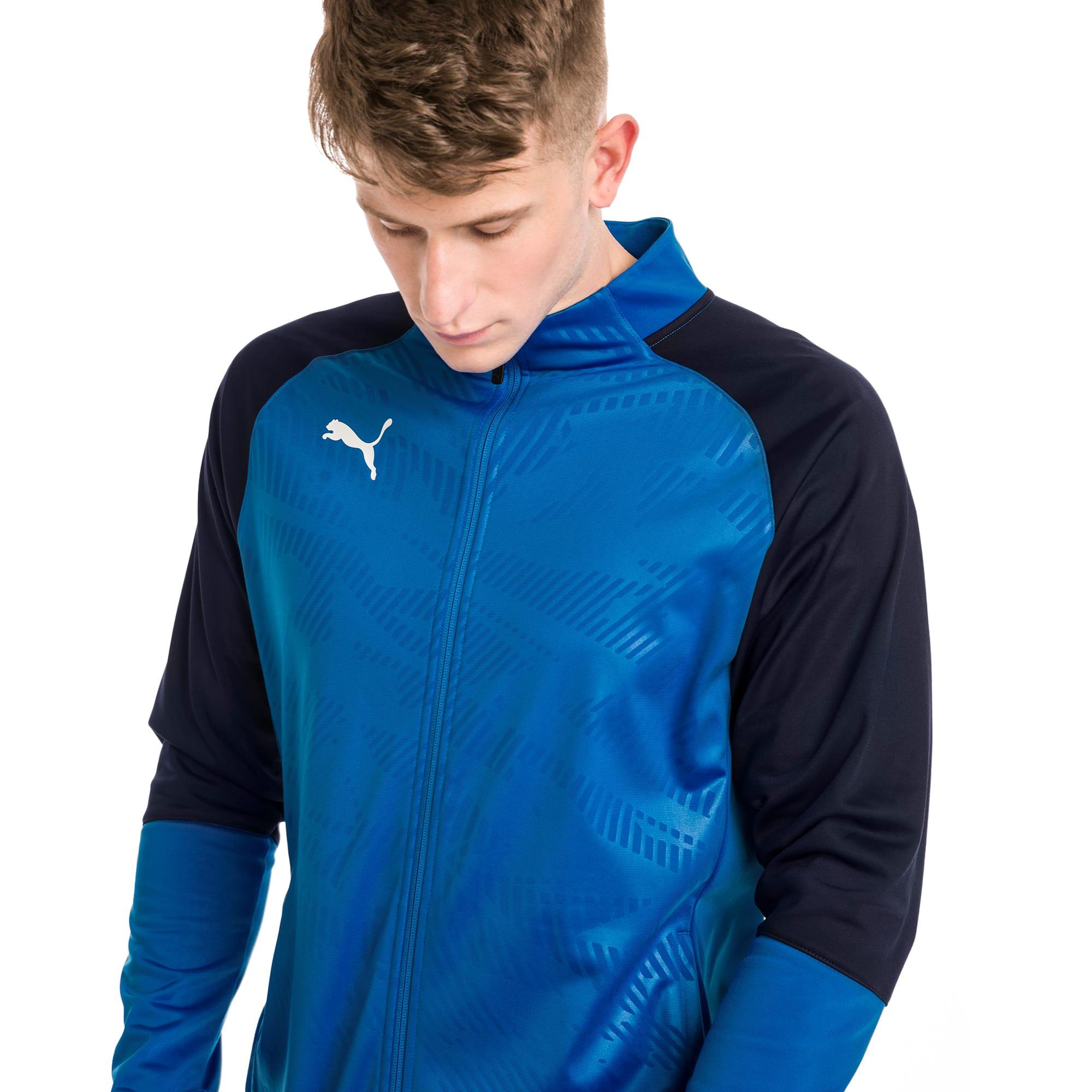 blouson de survêtement pour le foot cup training poly core pour homme, bleu, taille xl, vêtements
