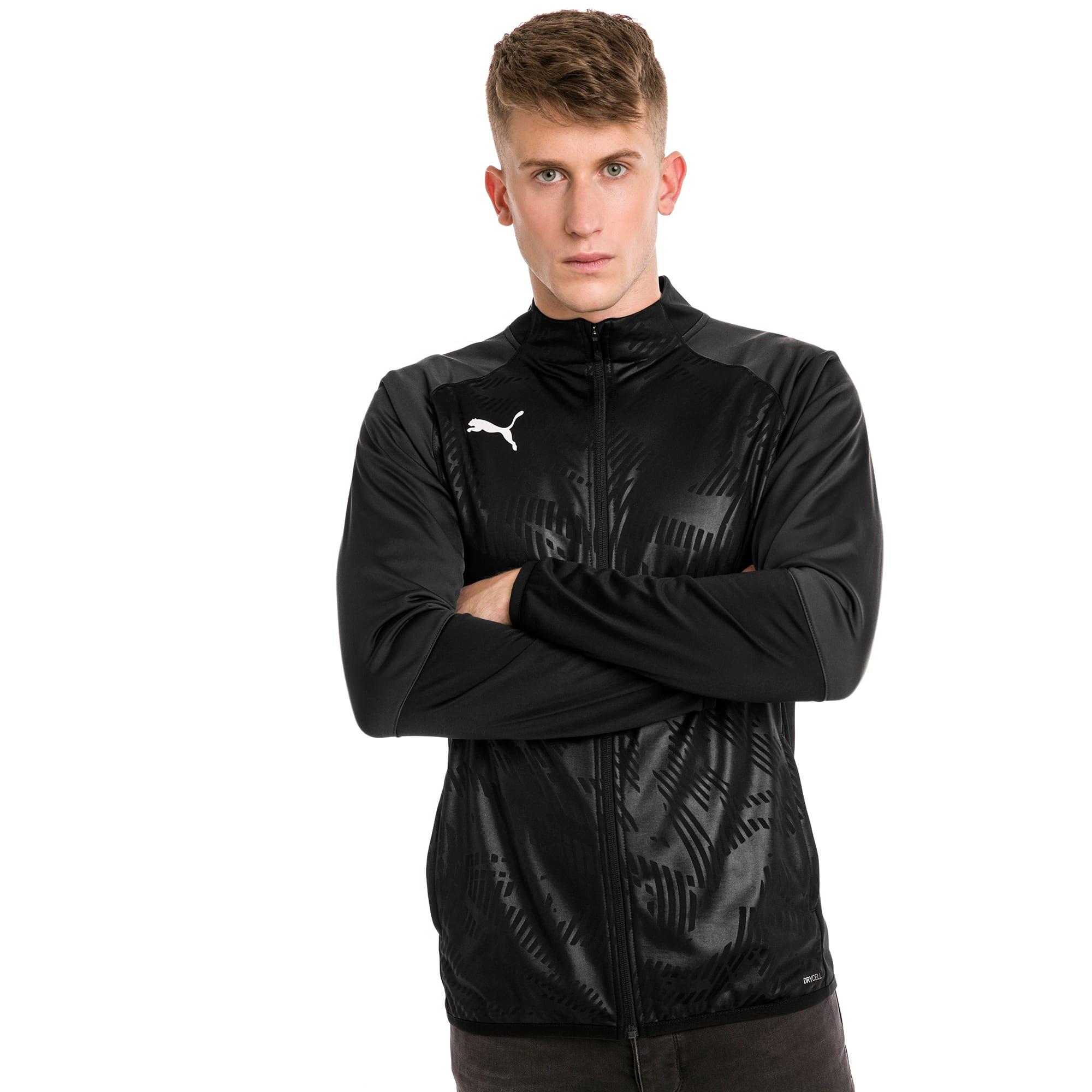 blouson de survêtement pour le foot cup training poly core pour homme, noir/gris, taille xl, vêtements