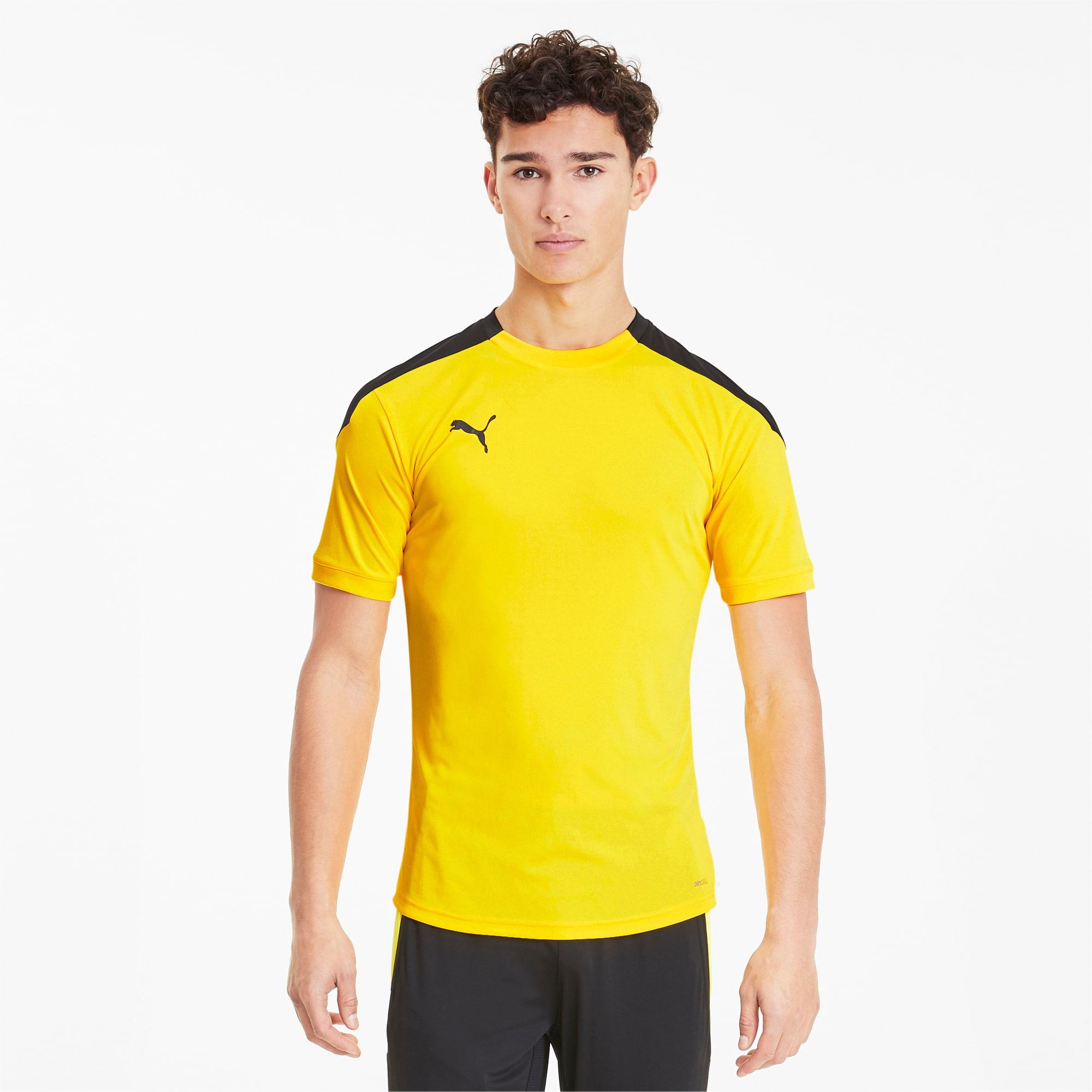 PUMA T-Shirt ftblNXT pour Homme, Jaune/Noir, Taille XL, Vêtements
