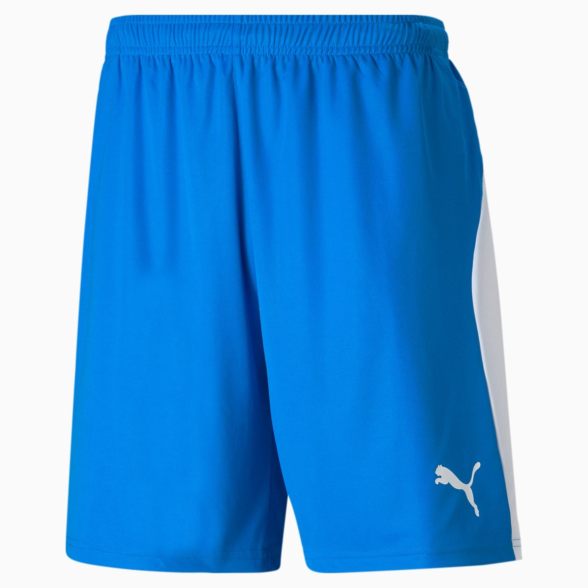 PUMA Liga Men's Shorts, Electric Blue/White, size Medium, Clothing