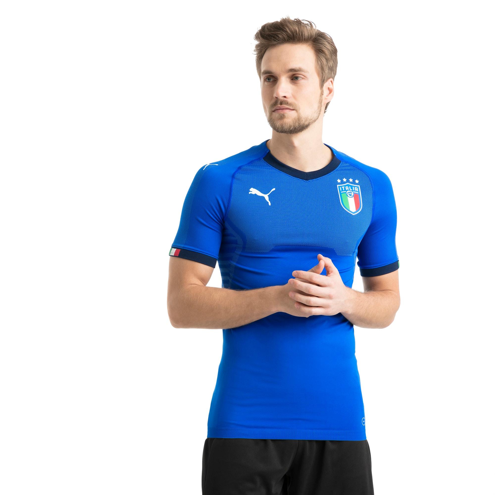 maillot domicile authentic italia pour homme, bleu, taille l, vêtements
