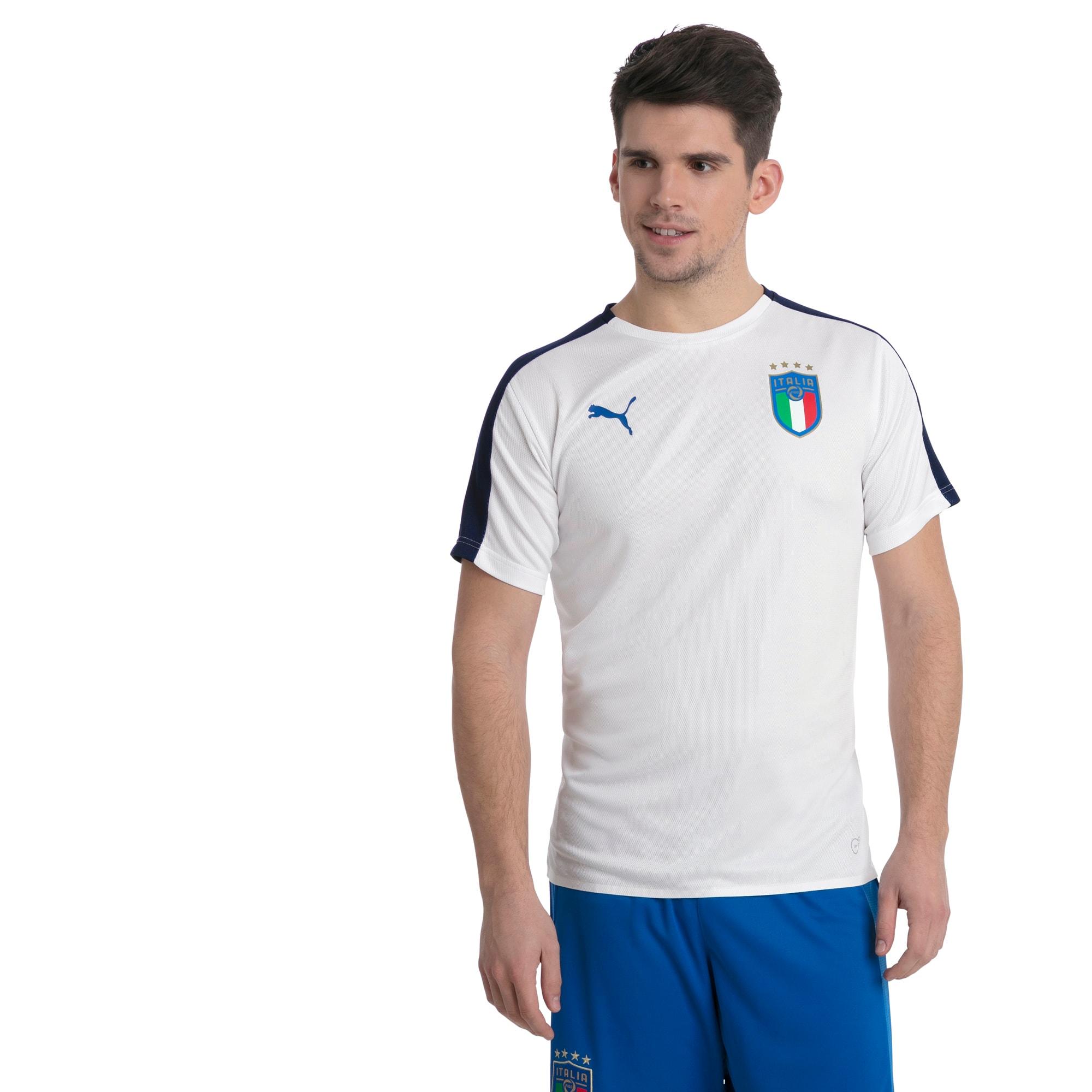 maillot italia stadium pour homme, blanc/bleu, taille xl, vêtements