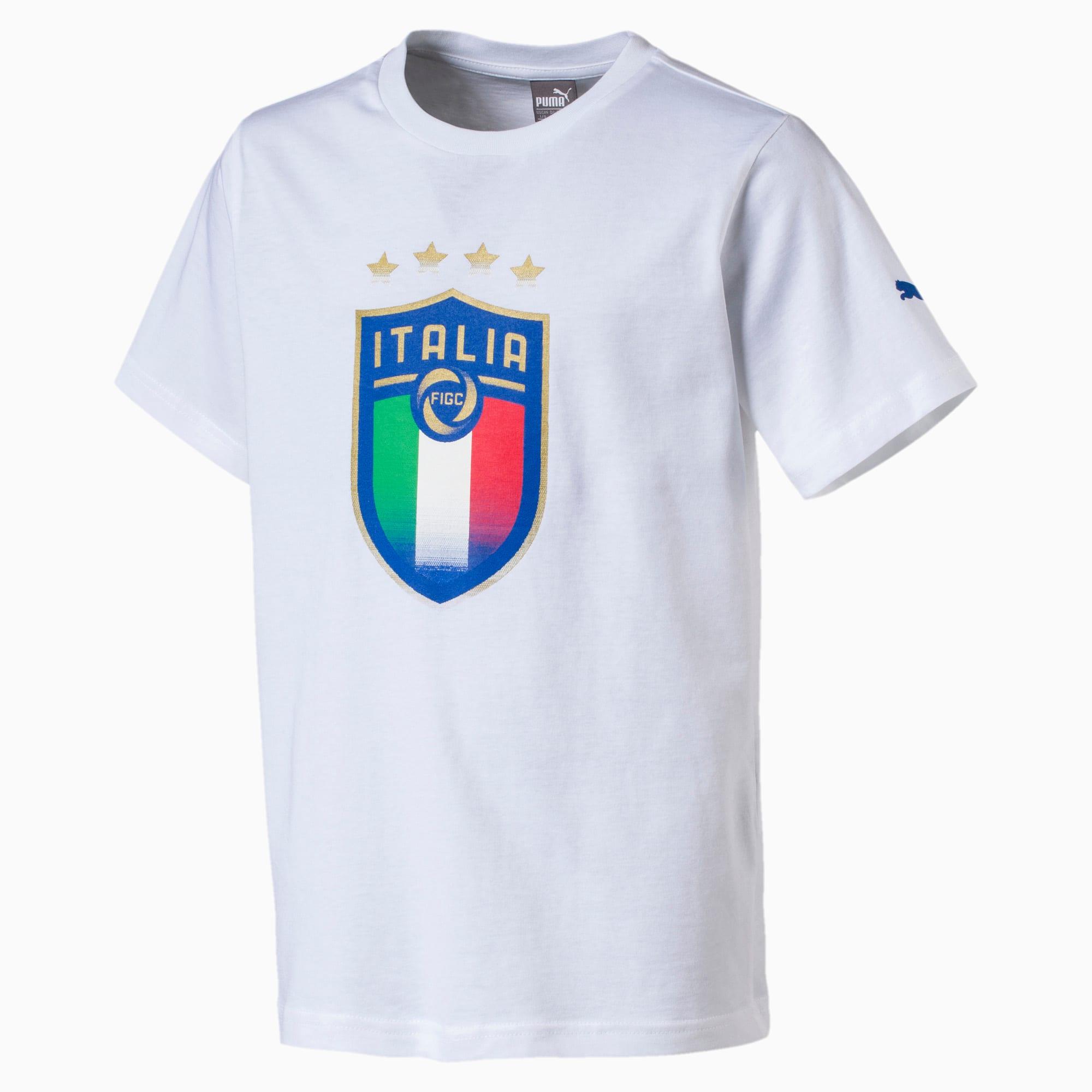 t-shirt italia avec emblème pour enfant pour homme, blanc, taille 152, vêtements